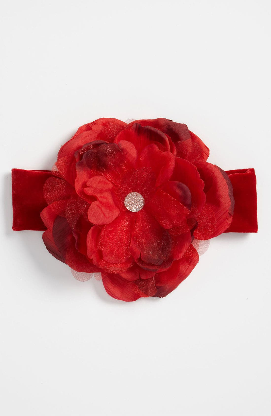 Alternate Image 1 Selected - PLH Bows & Laces Flower Headband (Infant)