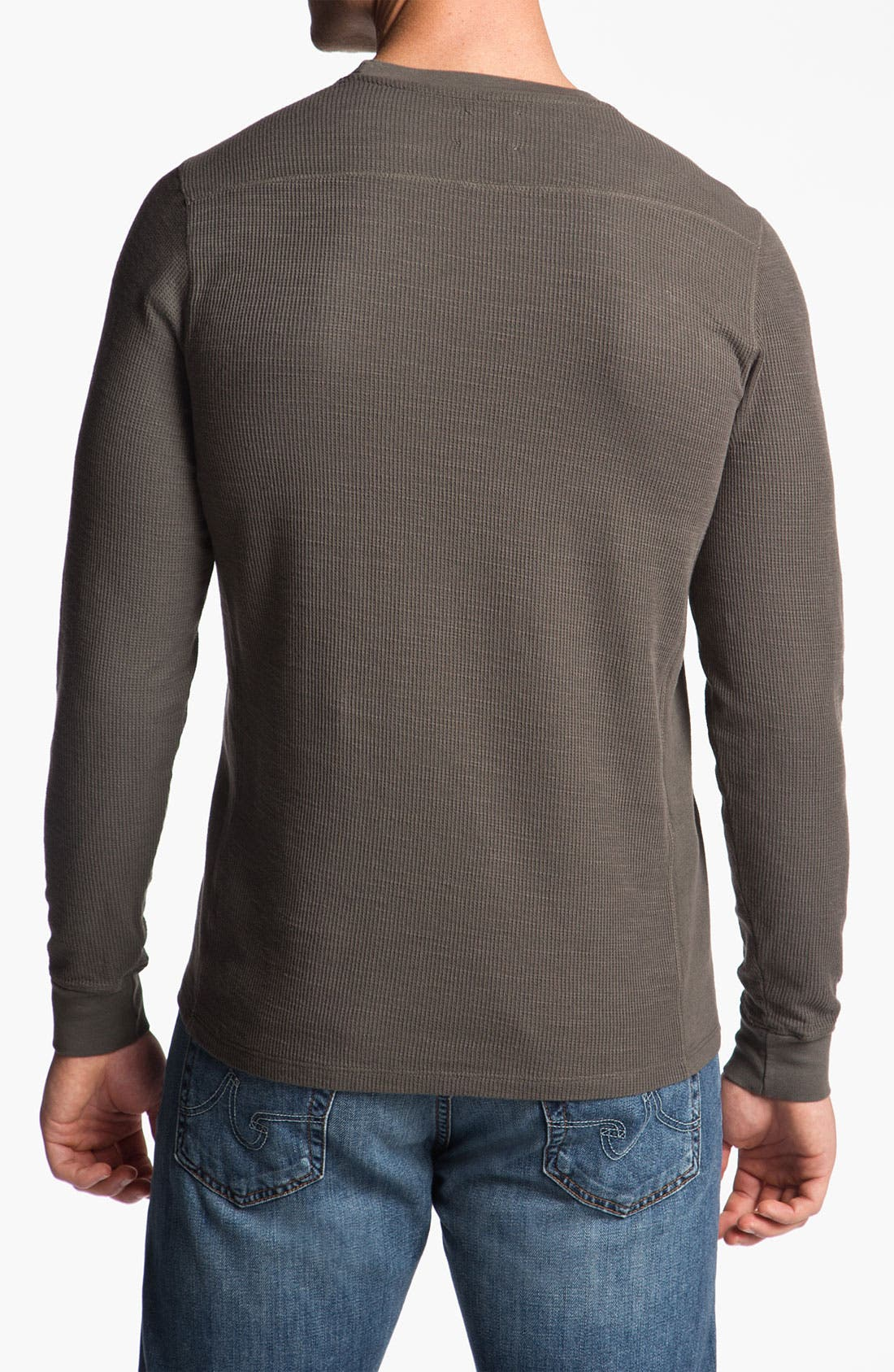 Alternate Image 2  - AG Jeans Long Sleeve Crewneck Thermal Shirt