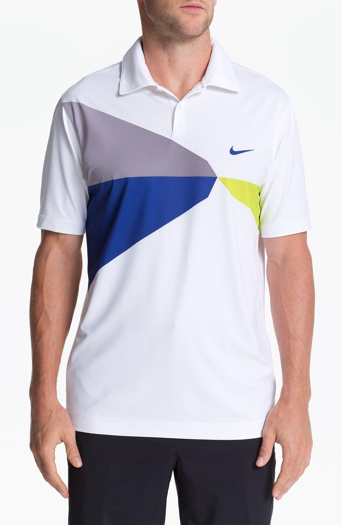 Alternate Image 1 Selected - Nike Golf 'Geo Printed' Dri-FIT Polo