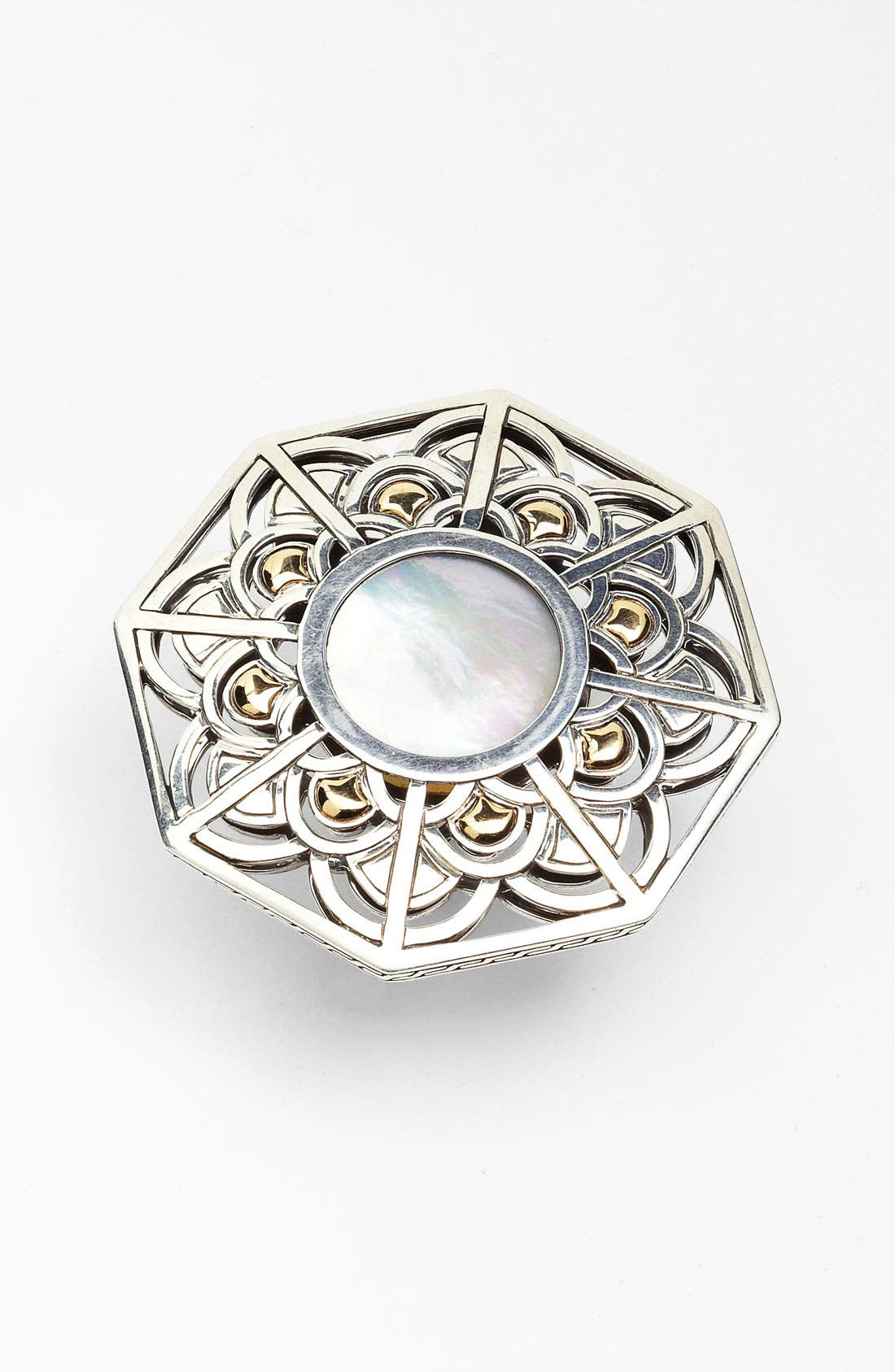 Main Image - John Hardy 'Naga' Mother-of-Pearl Hexagon Ring