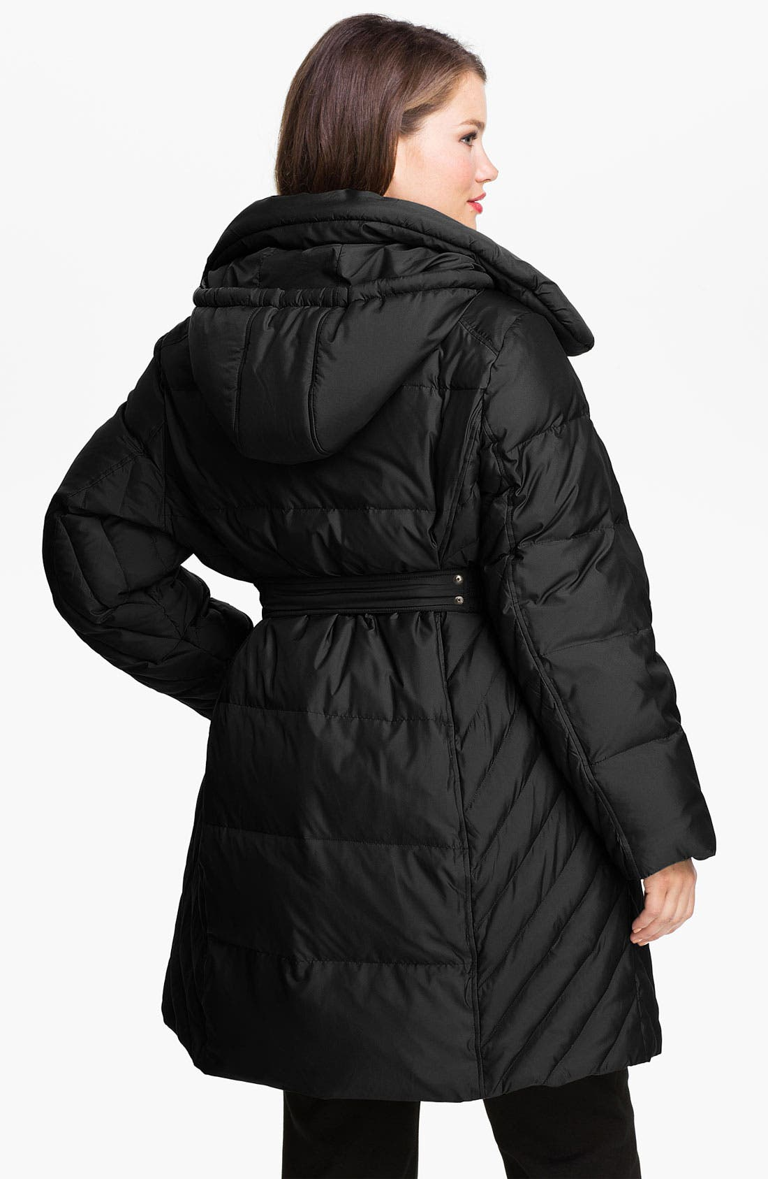Alternate Image 2  - Gallery Quilted Coat with Detachable Hood (Plus)
