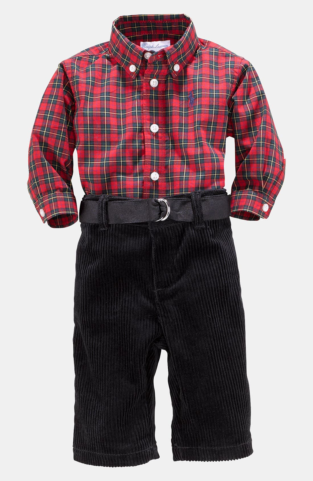 Alternate Image 1 Selected - Ralph Lauren Shirt & Pants (Infant)