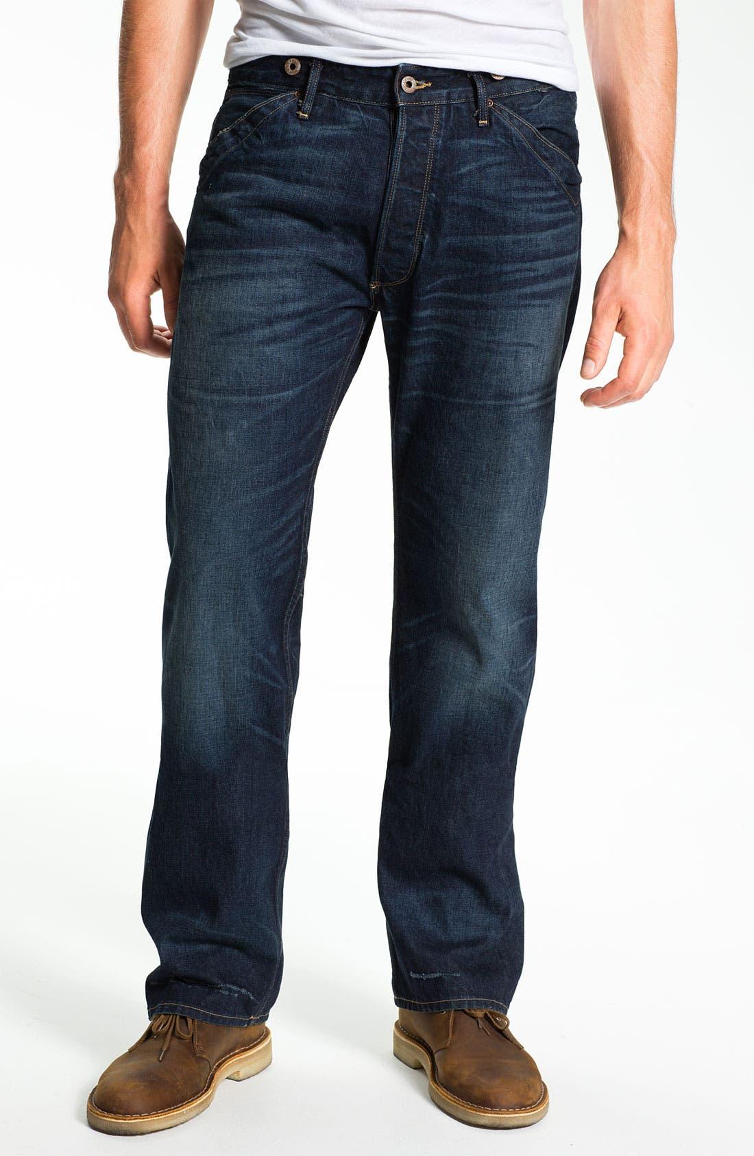 Alternate Image 2  - Rising Sun 'Blacksmith' Relaxed Straight Leg Jeans (Indigo Crossroad)