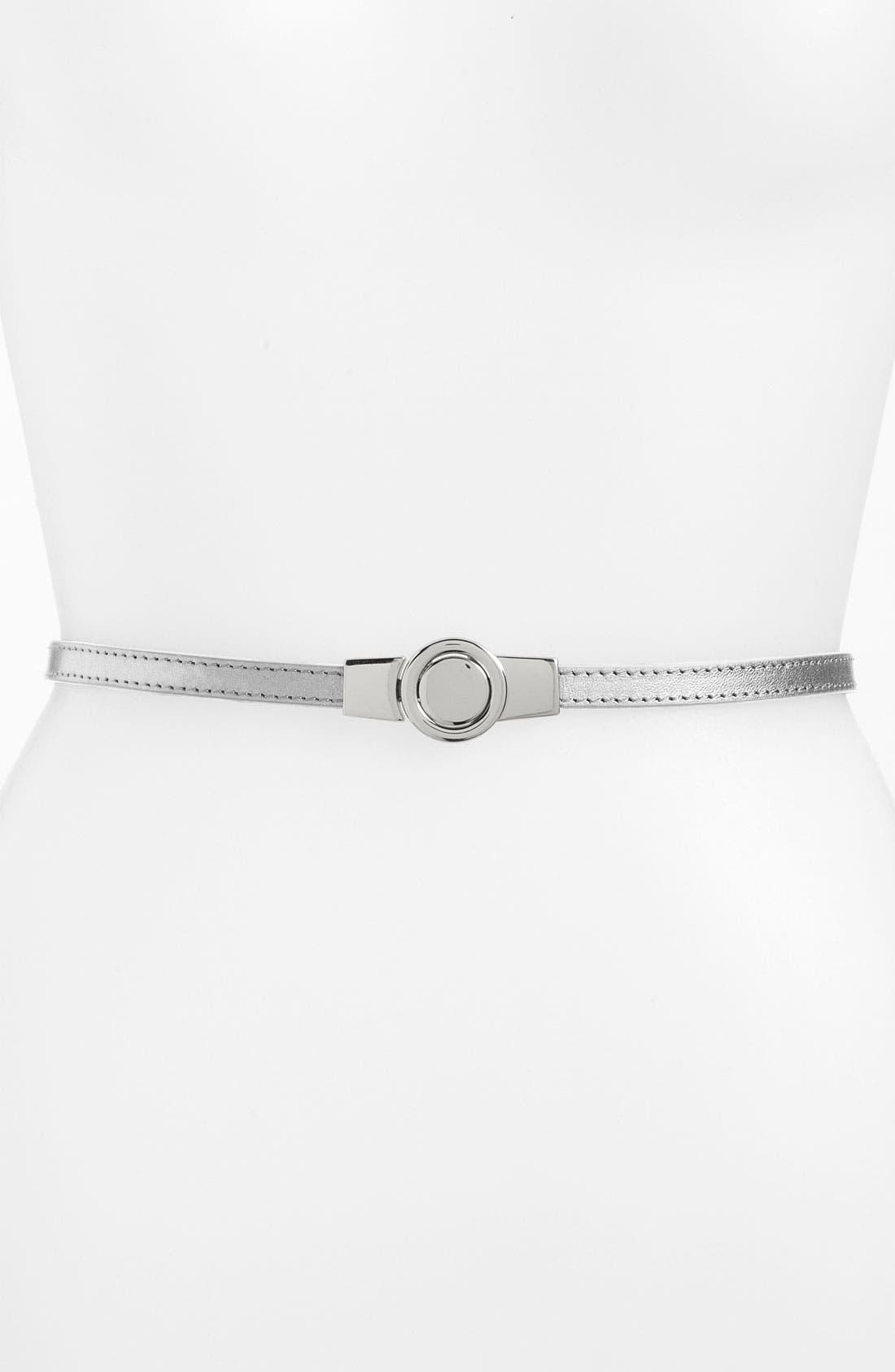 Alternate Image 1 Selected - Lafayette 148 New York Skinny Leather Belt