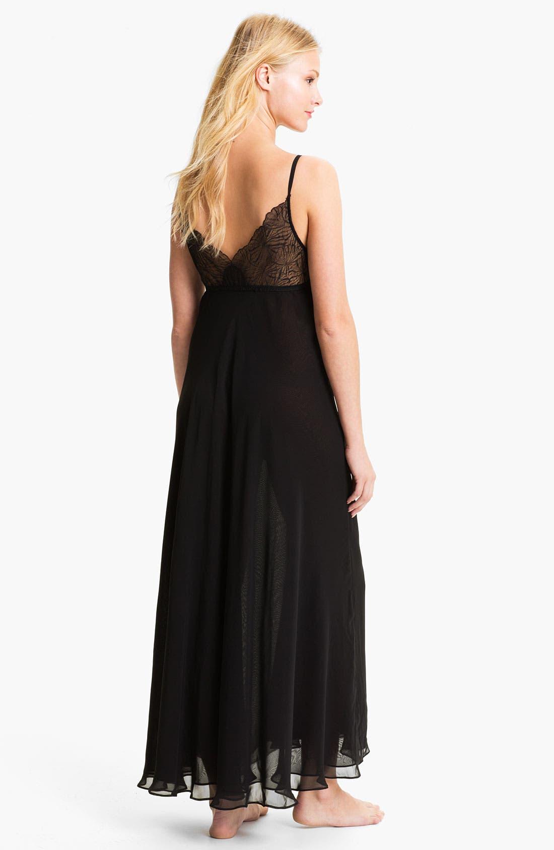 Alternate Image 2  - Donna Karan Silky Chiffon Nightgown