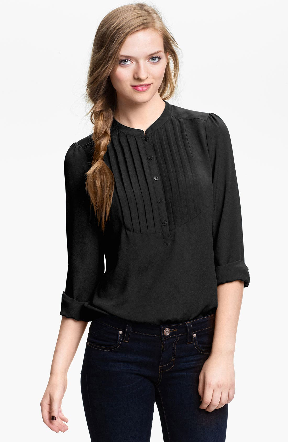 Alternate Image 1 Selected - BP. Tuxedo Shirt (Juniors)