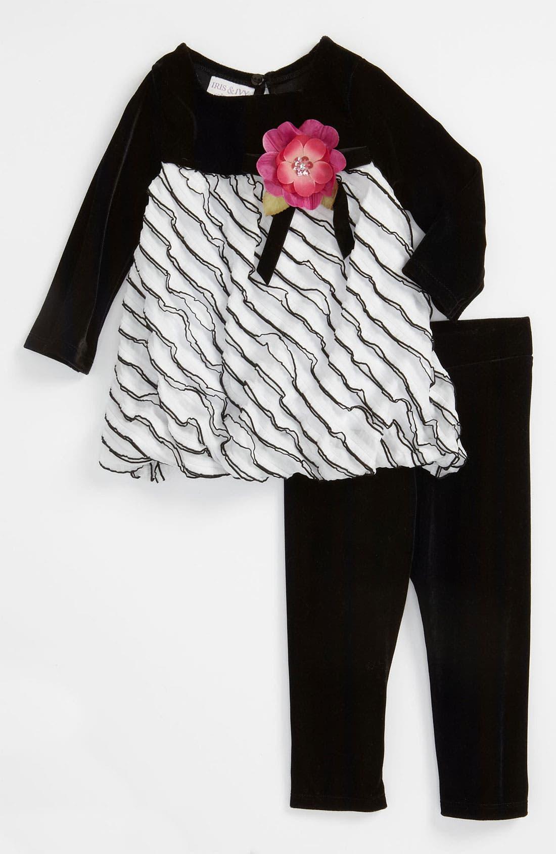 Main Image - Iris & Ivy Tiered Dress & Leggings (Toddler)