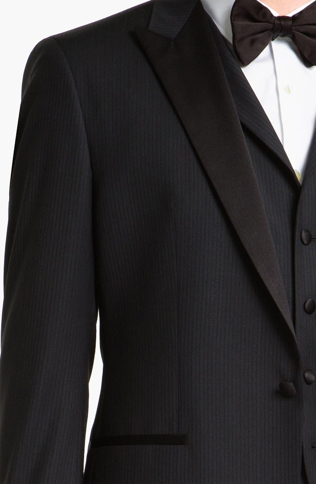 Alternate Image 6  - BOSS Black 'The Joy/Gala' Trim Fit Stripe Tuxedo