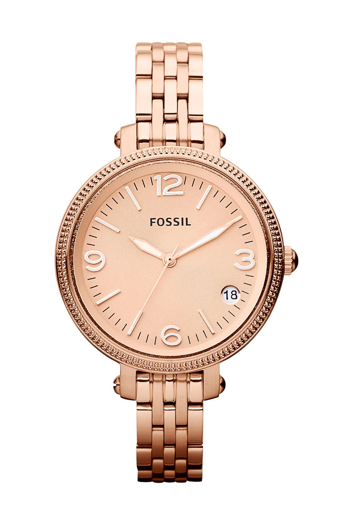 Alternate Image 1 Selected - Fossil 'Small Heather' Round Bracelet Watch, 34mm