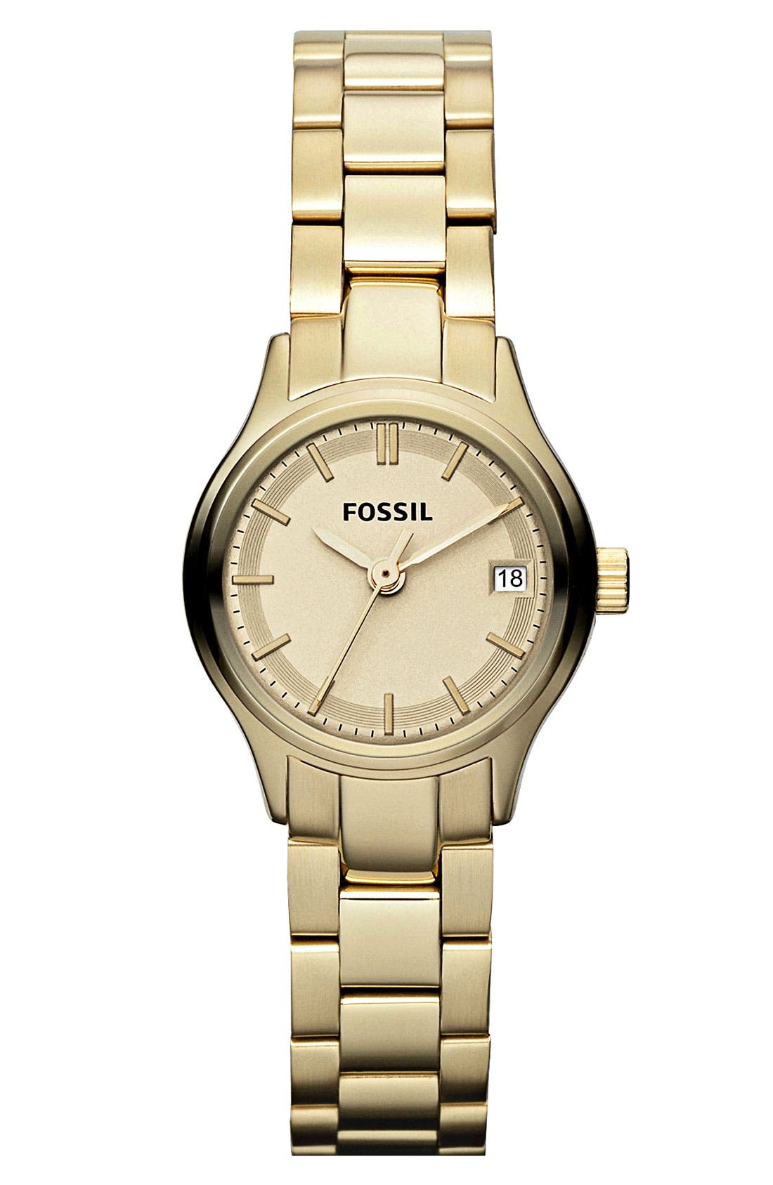 Alternate Image 1 Selected - Fossil 'Mini Archival' Small Round Bracelet Watch, 24mm