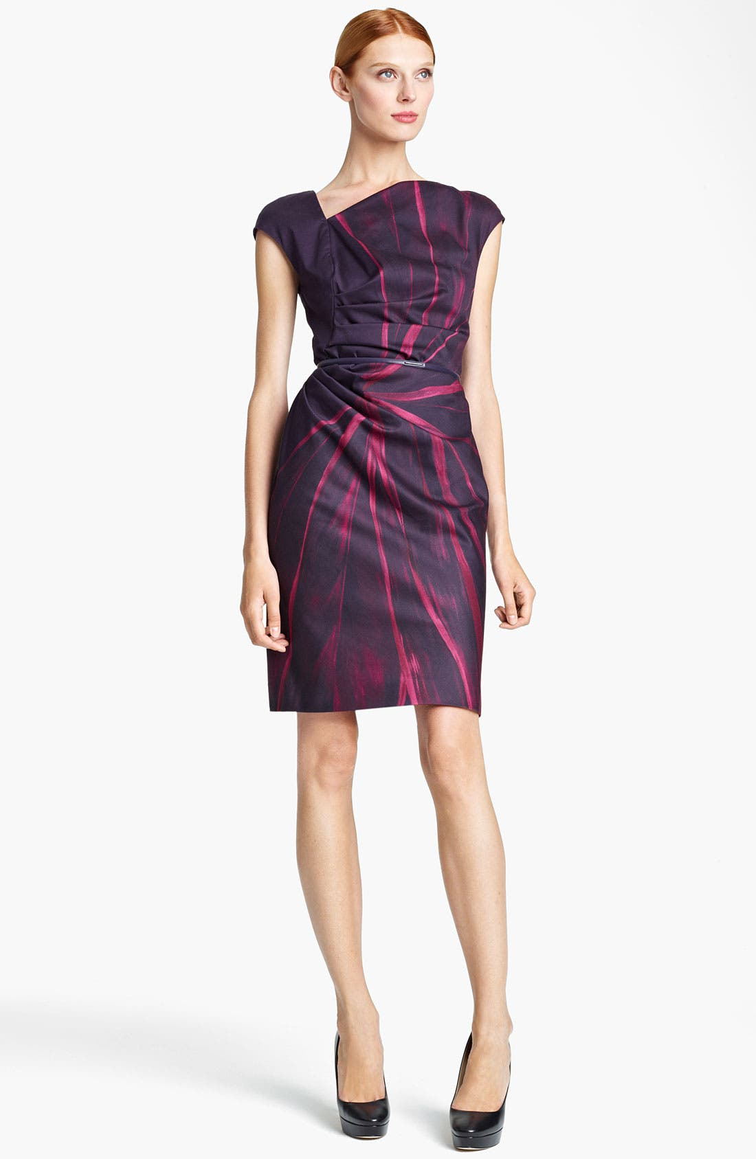 Alternate Image 1 Selected - Max Mara 'Pallore' Belted Abstract Print Dress