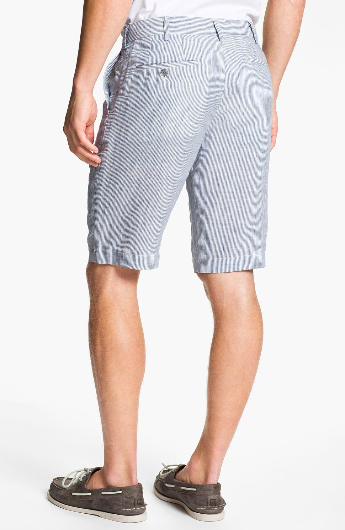 Alternate Image 2  - Vince Stripe Linen Trouser Shorts