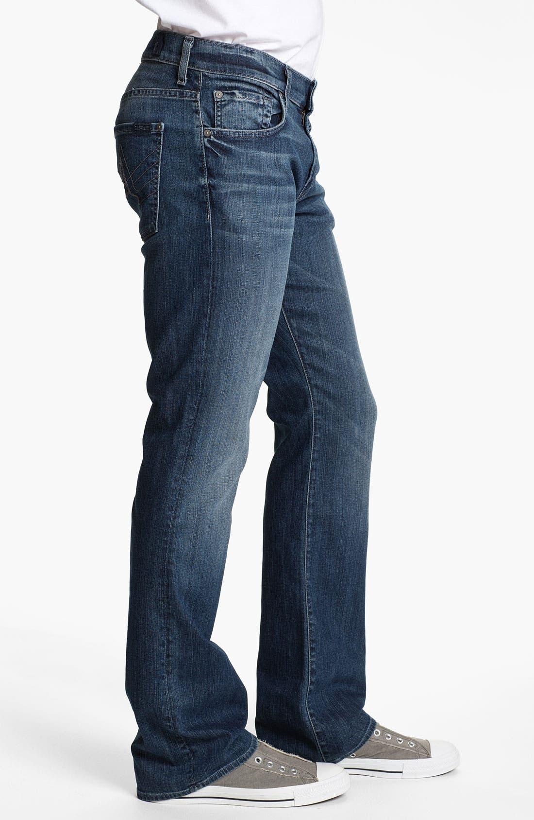 Alternate Image 3  - 7 For All Mankind® 'Brett' Bootcut Jeans (Nakkita Grey)
