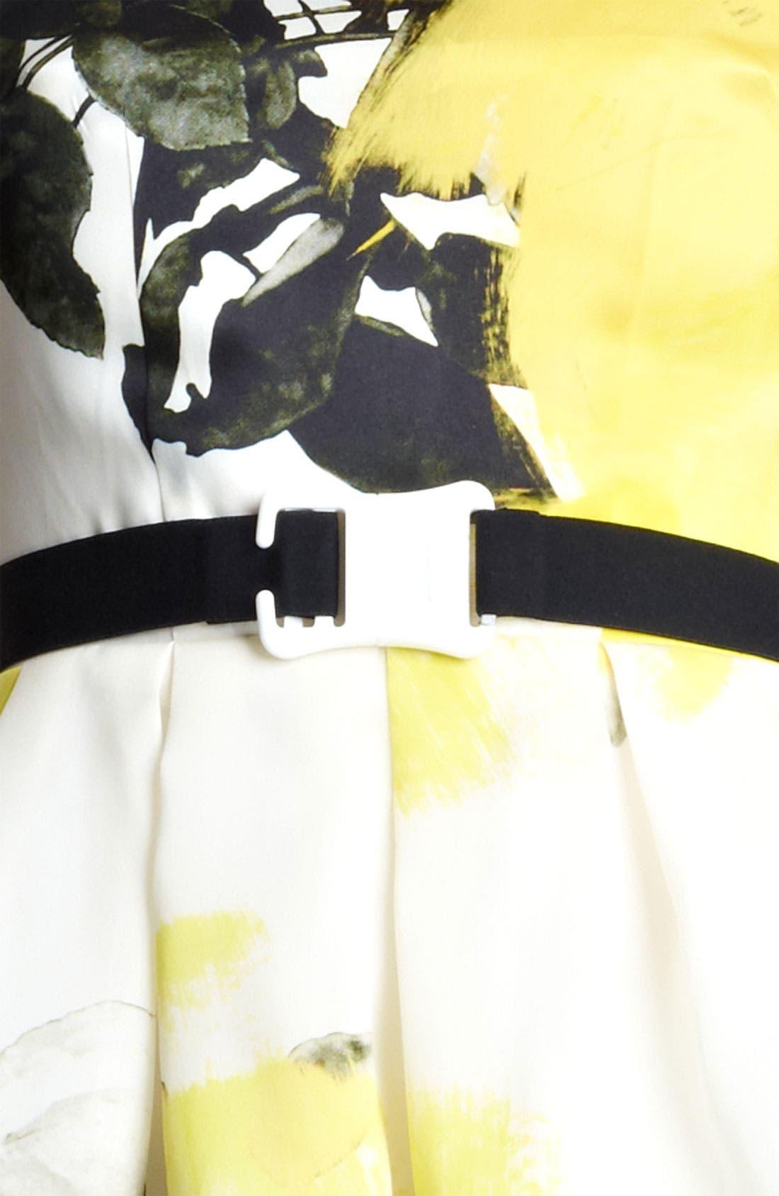 Alternate Image 2  - Christopher Kane Yellow Floral Print Circle Skirt Dress