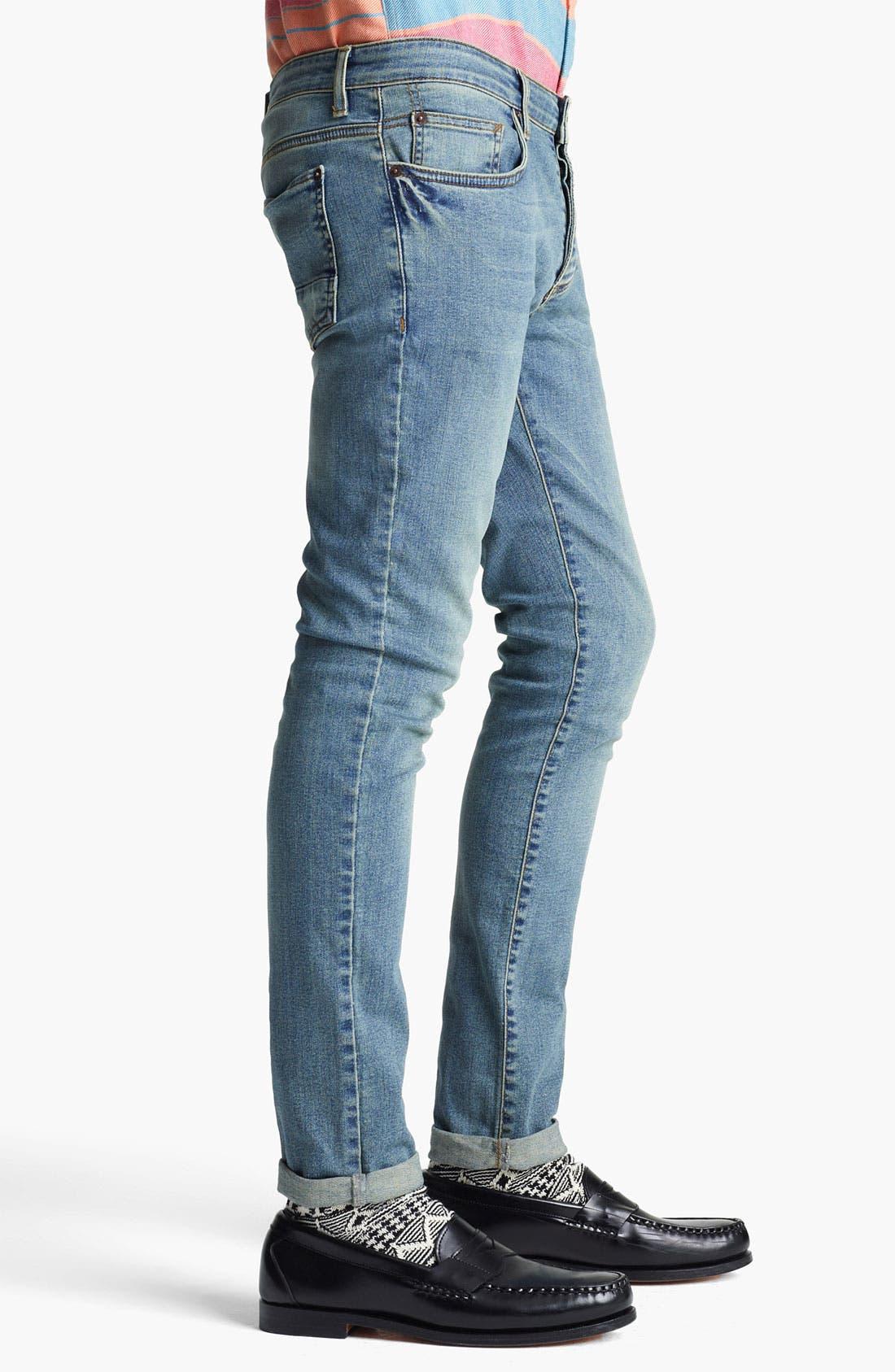 Alternate Image 3  - Topman 'Spray On' Skinny Jeans (Atlanta)