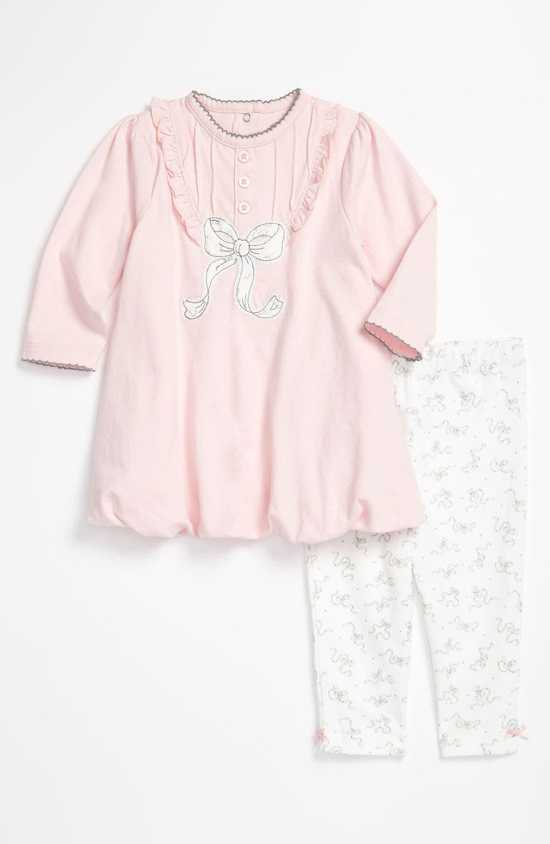Alternate Image 1 Selected - Little Me Dress & Leggings (Infant)