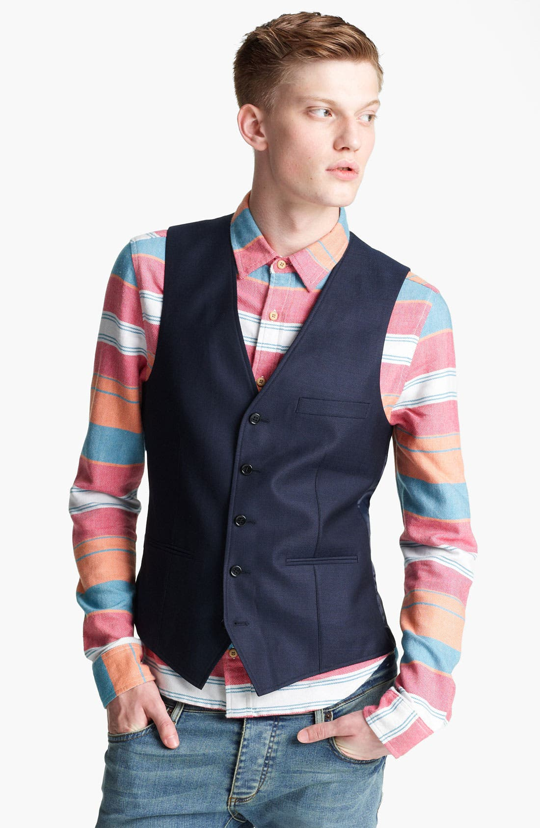 Alternate Image 1 Selected - Topman 'Chester' Waistcoat