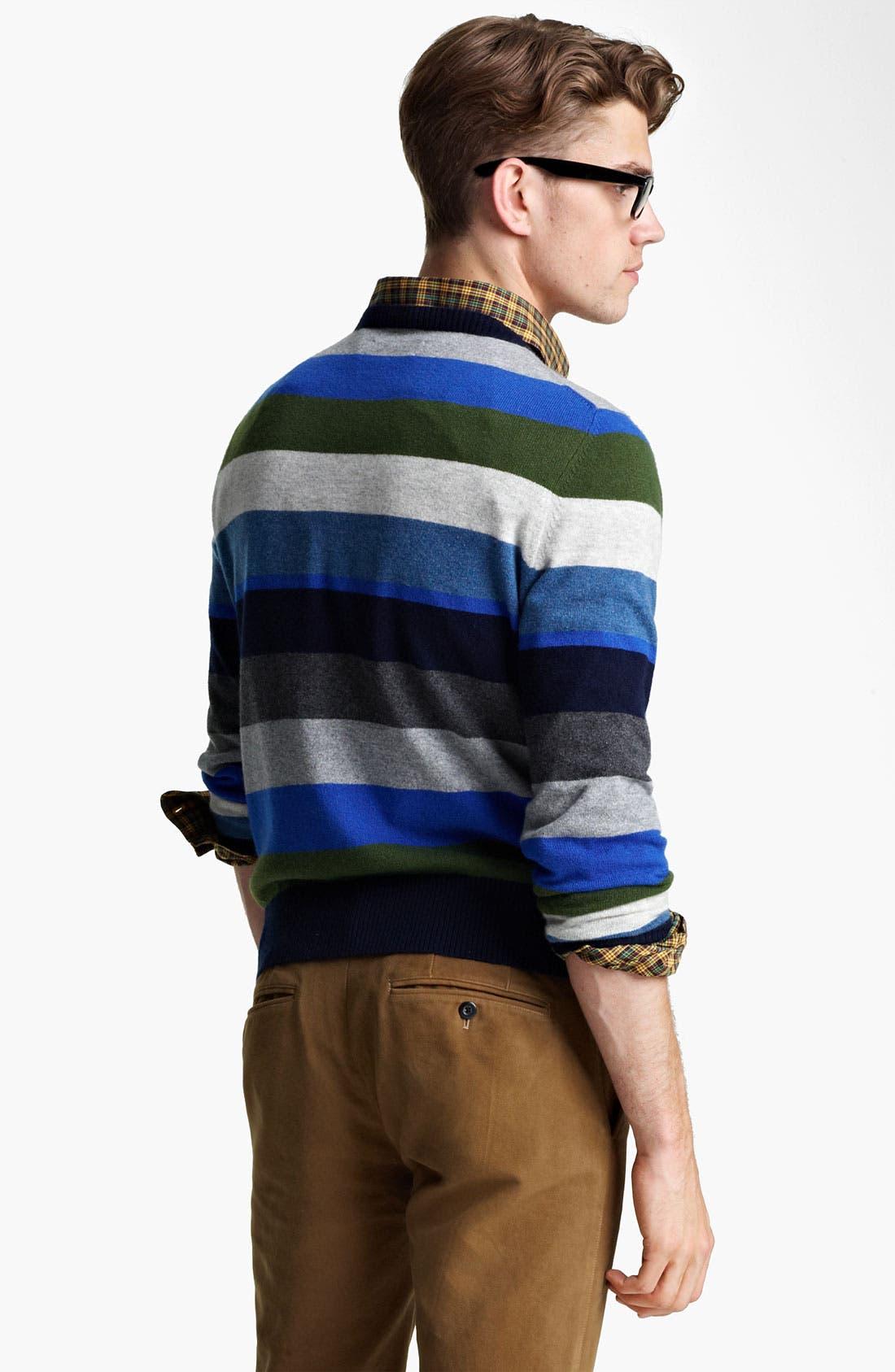 Alternate Image 2  - Jack Spade 'Page' Stripe Wool & Cashmere Sweater
