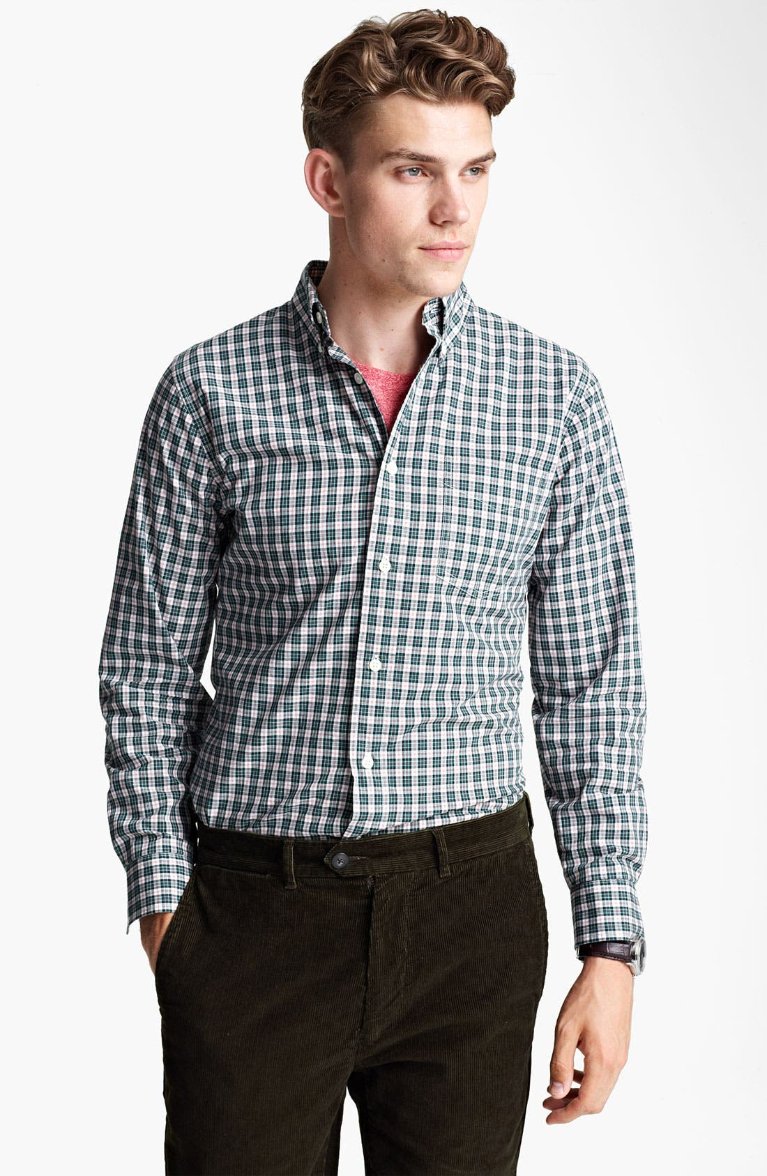 Alternate Image 1 Selected - Jack Spade 'Snyder' Check Woven Shirt