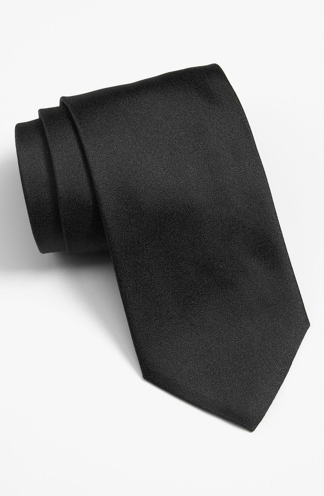 Alternate Image 1 Selected - BOSS Black Woven Silk Tie (Tall)