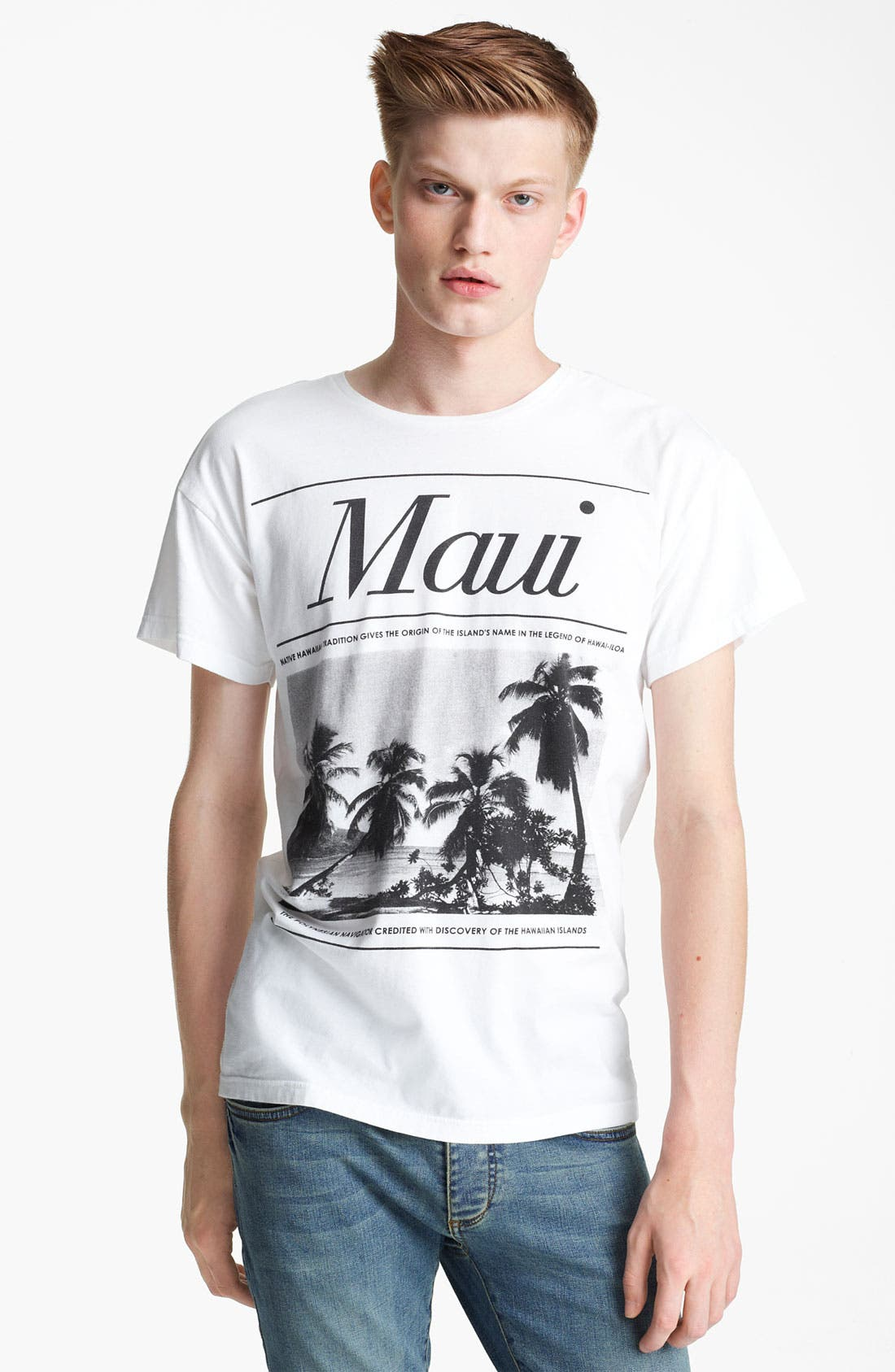 Main Image - Topman 'Maui' Crewneck T-Shirt