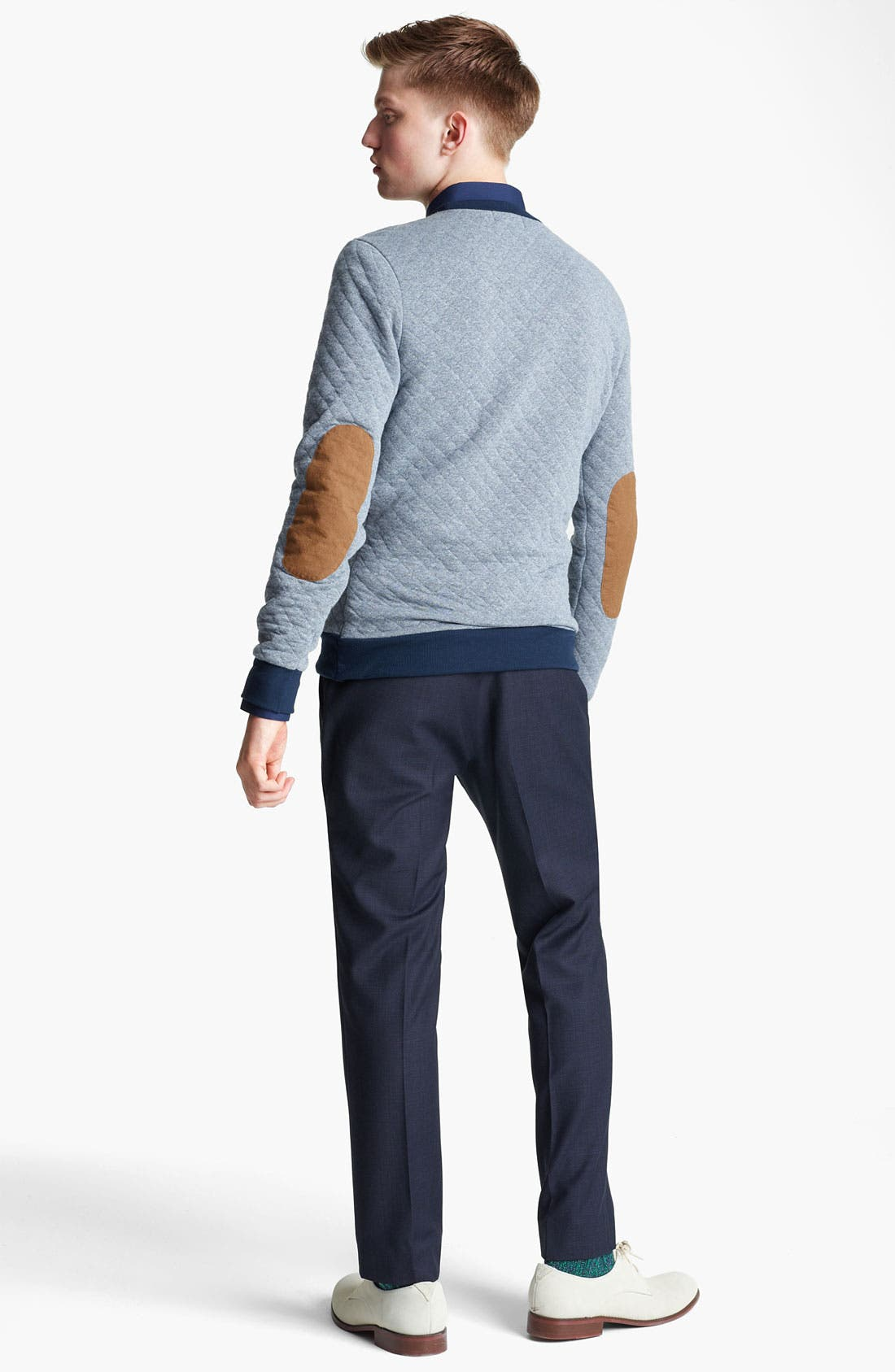 Alternate Image 5  - Topman Quilted Crewneck Sweatshirt