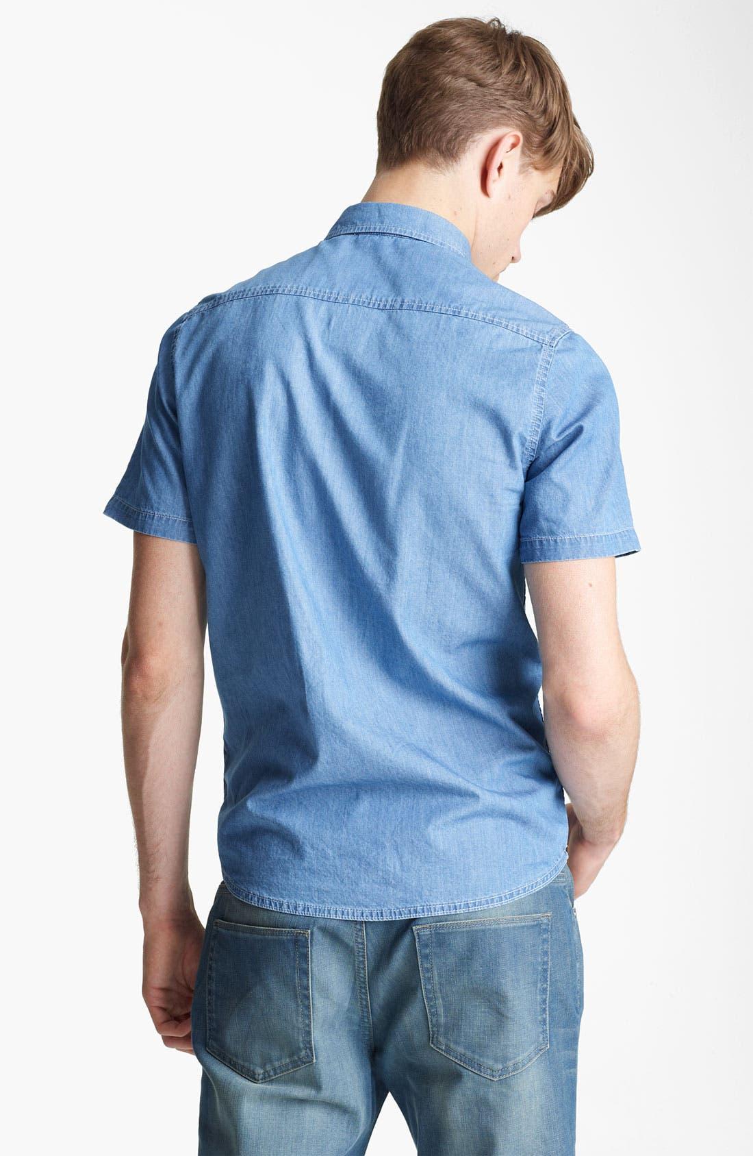 Alternate Image 2  - Topman 'Aztec' Print Denim Shirt
