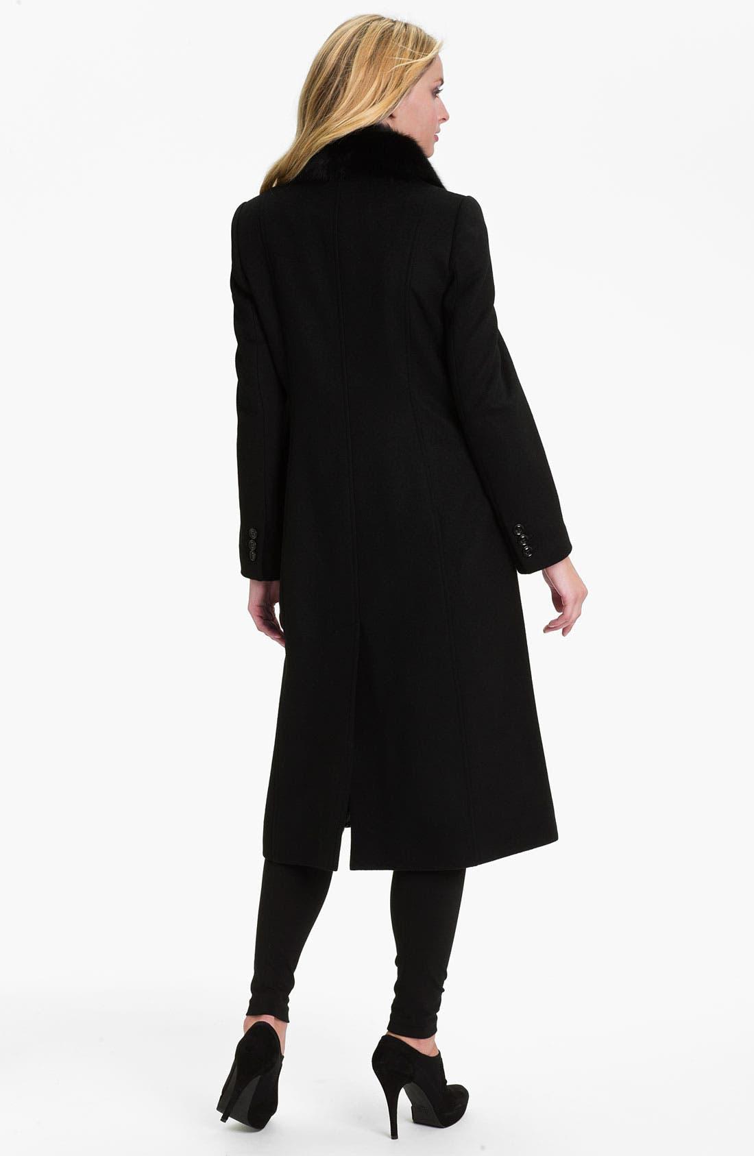Alternate Image 2  - Sachi Genuine Fox Fur Collar Coat