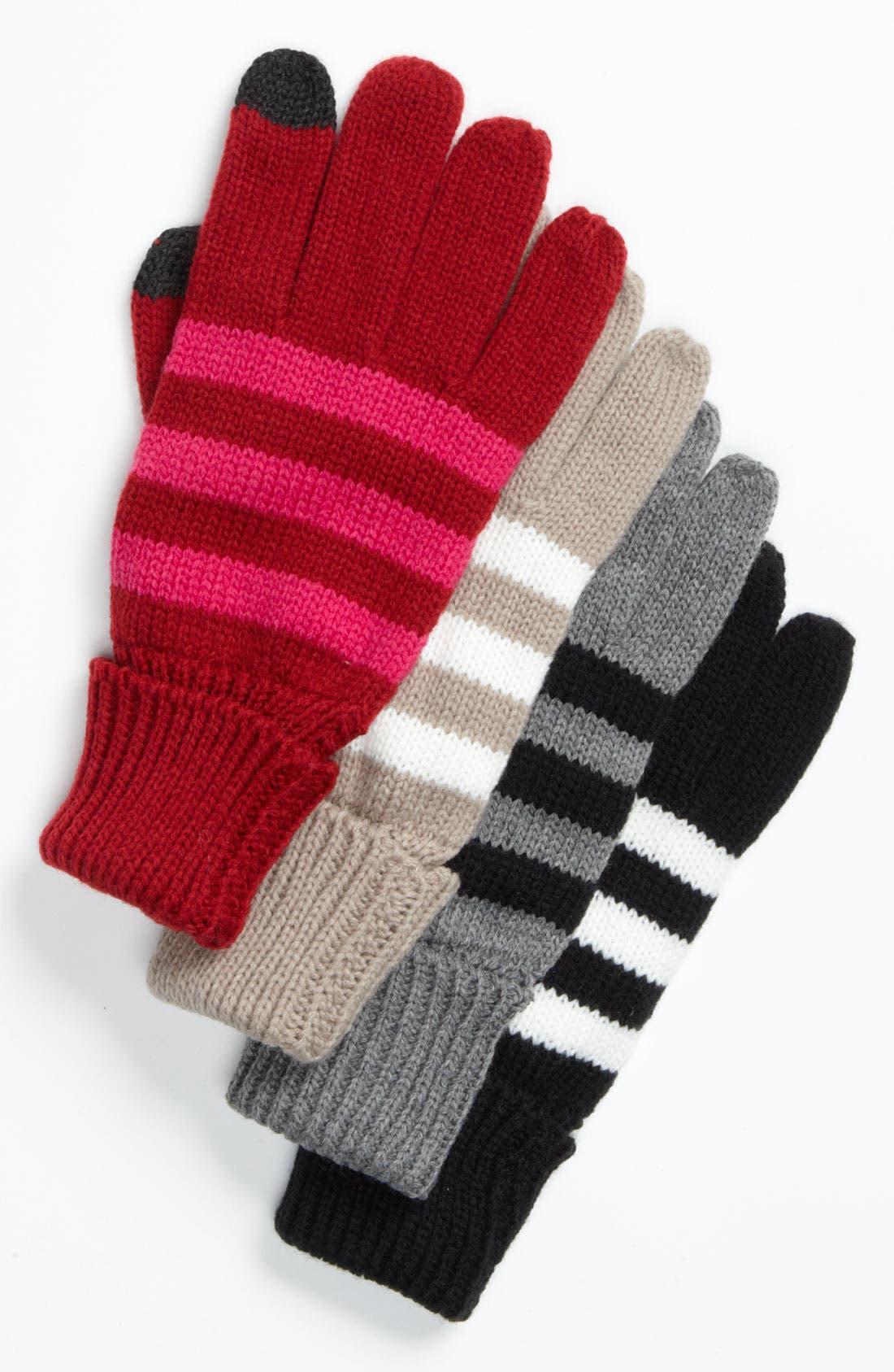 Alternate Image 2  - Big Buddha Stripe Tech Gloves