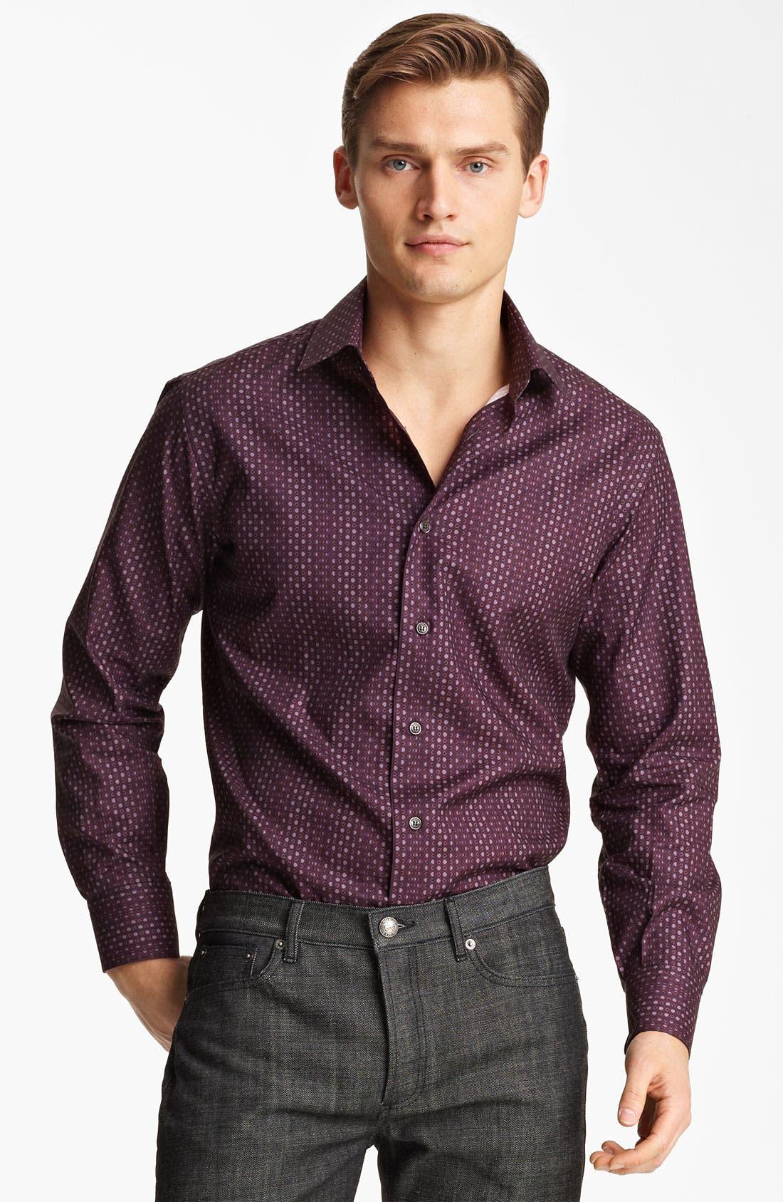 Alternate Image 1 Selected - Salvatore Ferragamo Trim Fit Sport Shirt