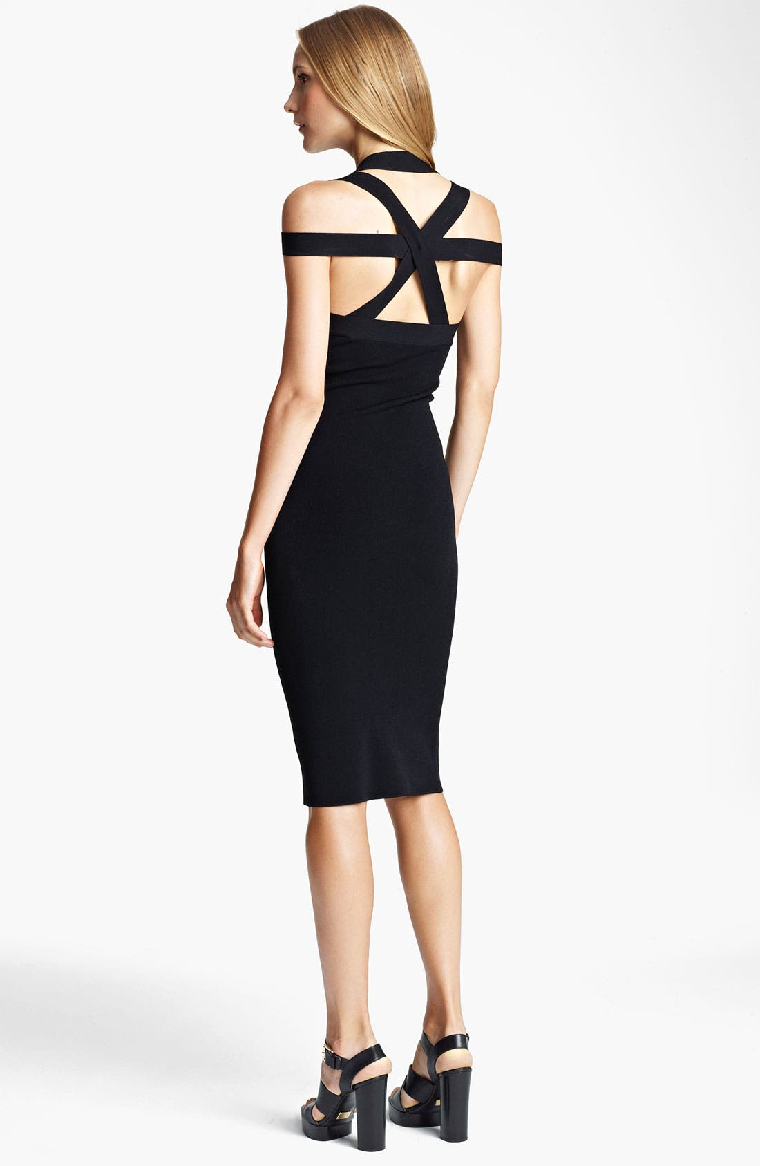 Alternate Image 2  - Michael Kors Crisscross Matte Jersey Dress