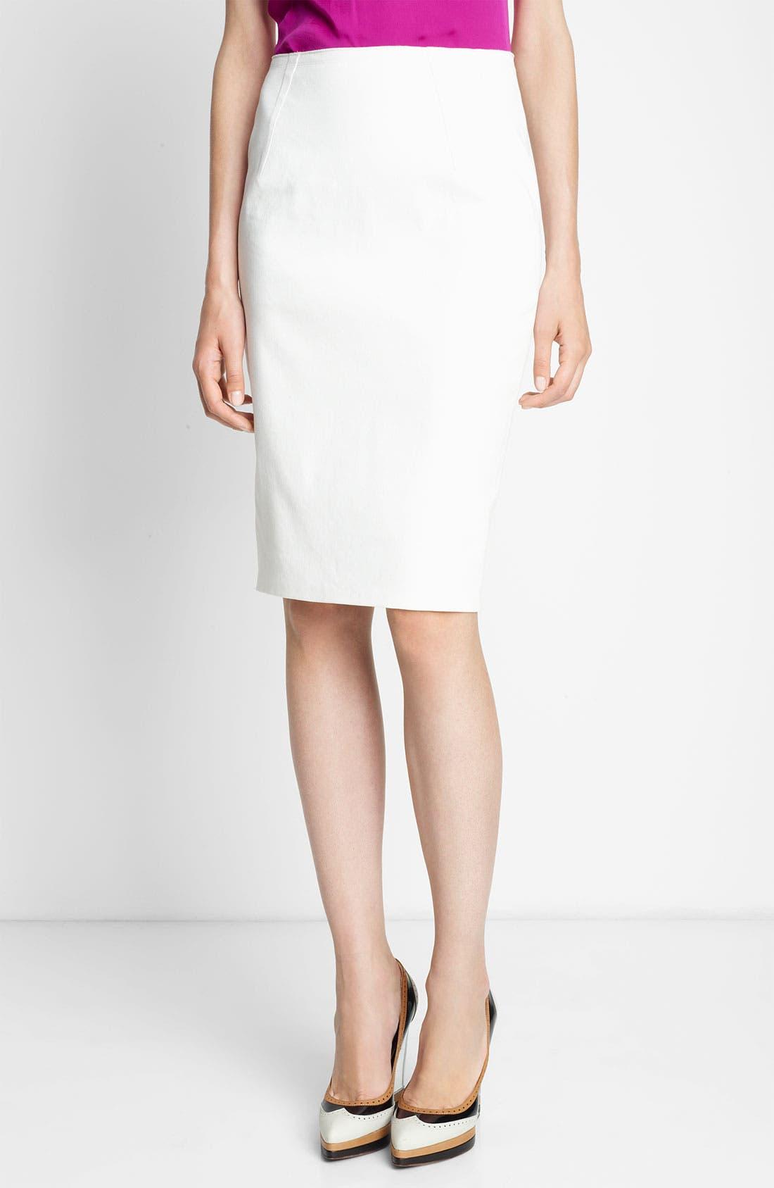 Main Image - Lanvin Piqué Pencil Skirt