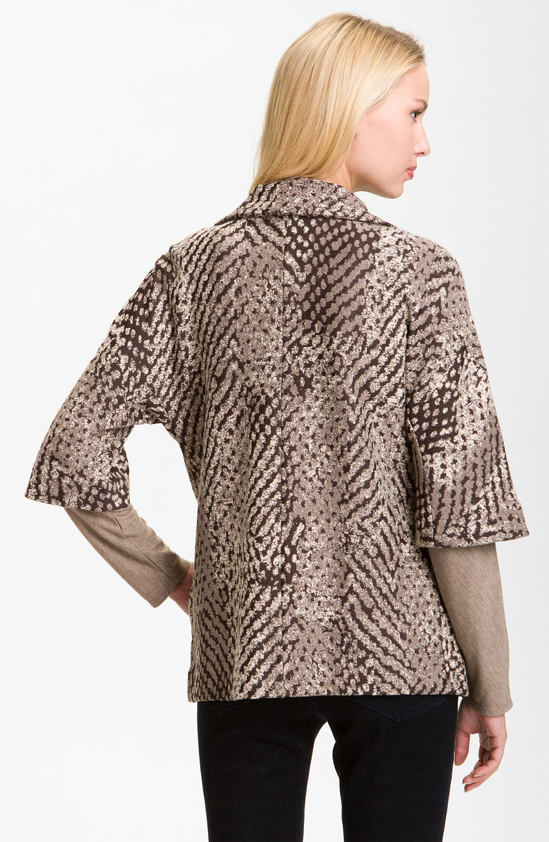 Alternate Image 2  - Nic + Zoe 'Textured Dots' Knit Jacket (Petite)