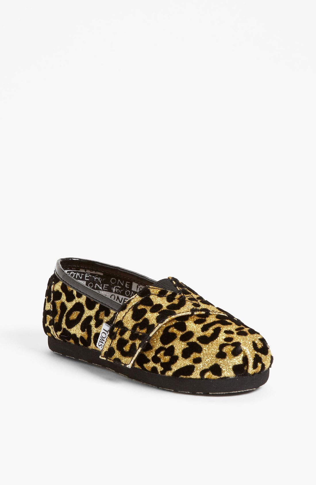 Main Image - TOMS 'Classic Tiny - Glitter' Print Slip-On (Baby, Walker & Toddler)(Nordstrom Exclusive)