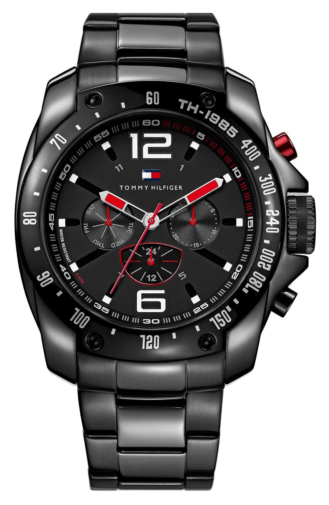 Main Image - Tommy Hilfiger Chronograph Bracelet Watch, 46mm