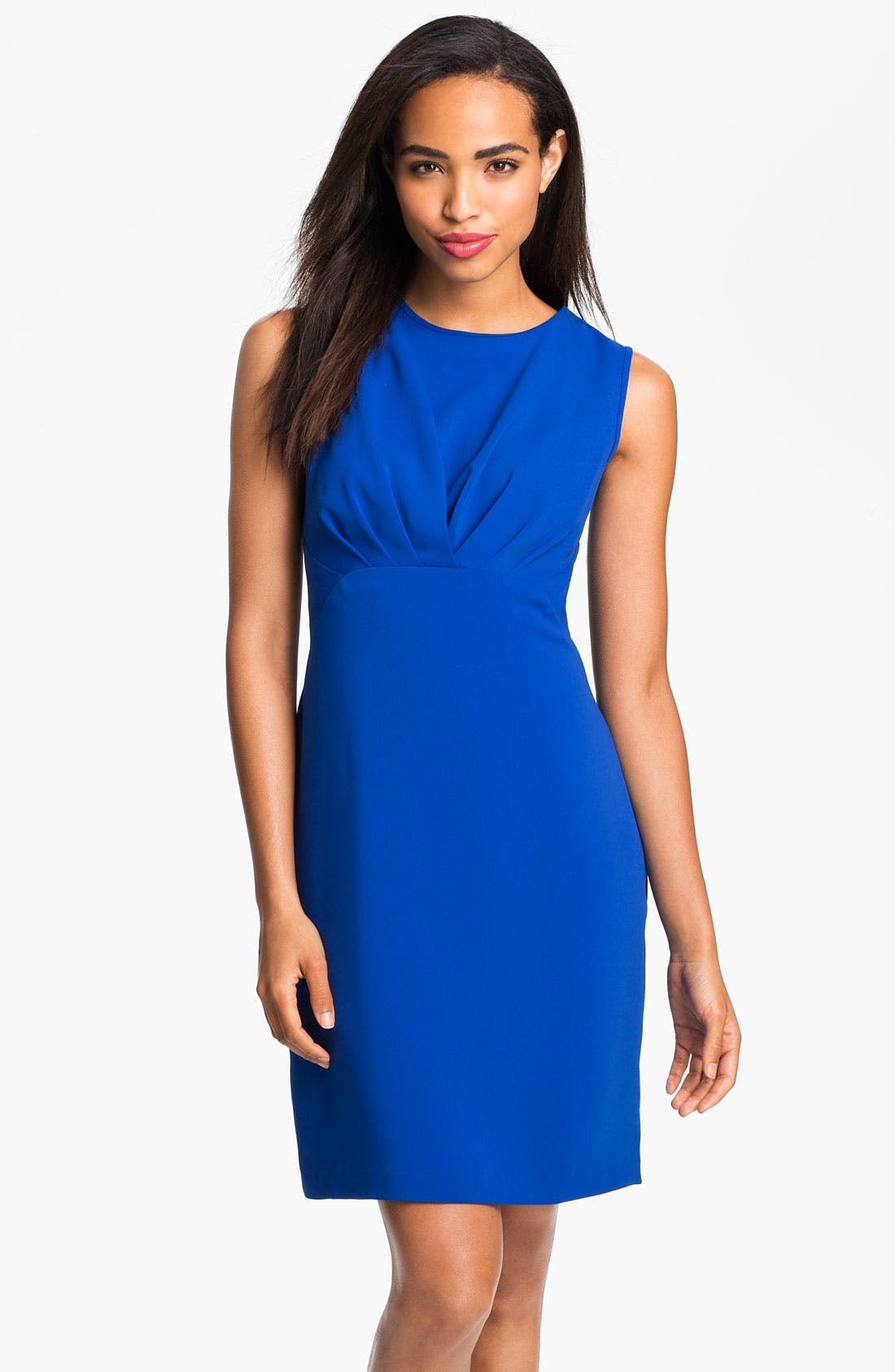 Main Image - Donna Ricco Pleat Bodice Sheath Dress