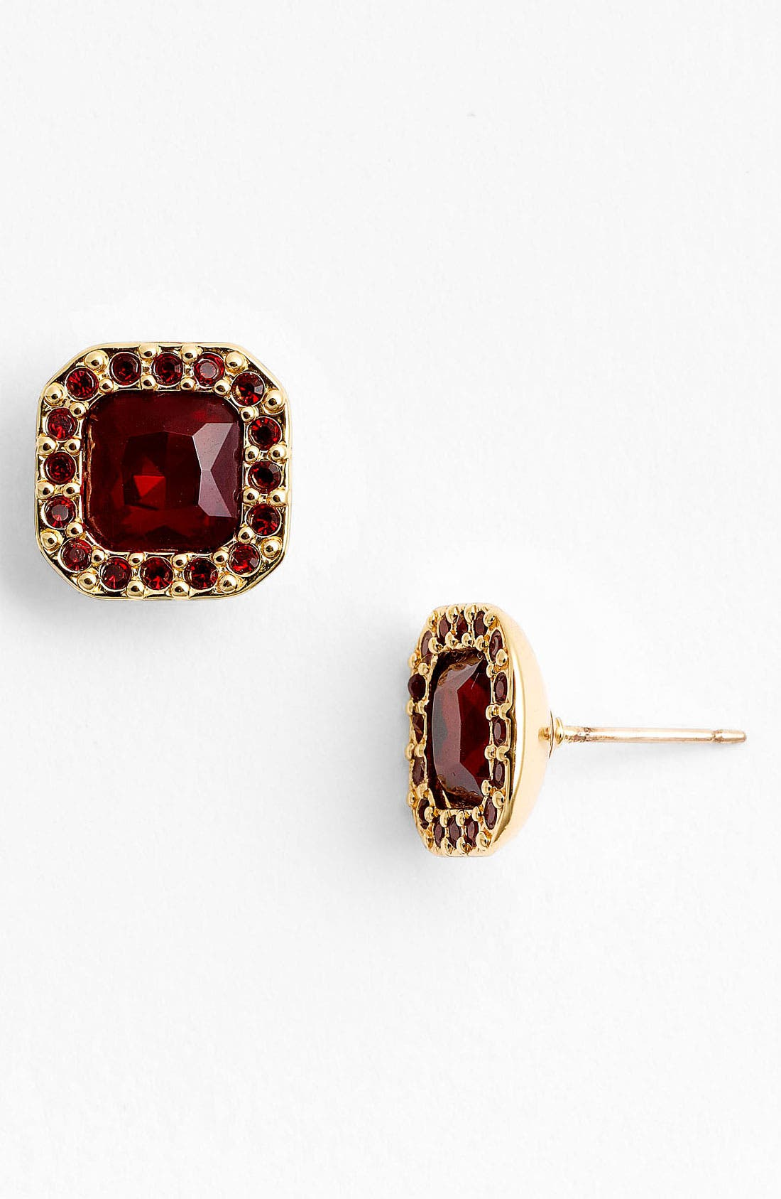 Alternate Image 1 Selected - kate spade new york pavé surround stud earrings
