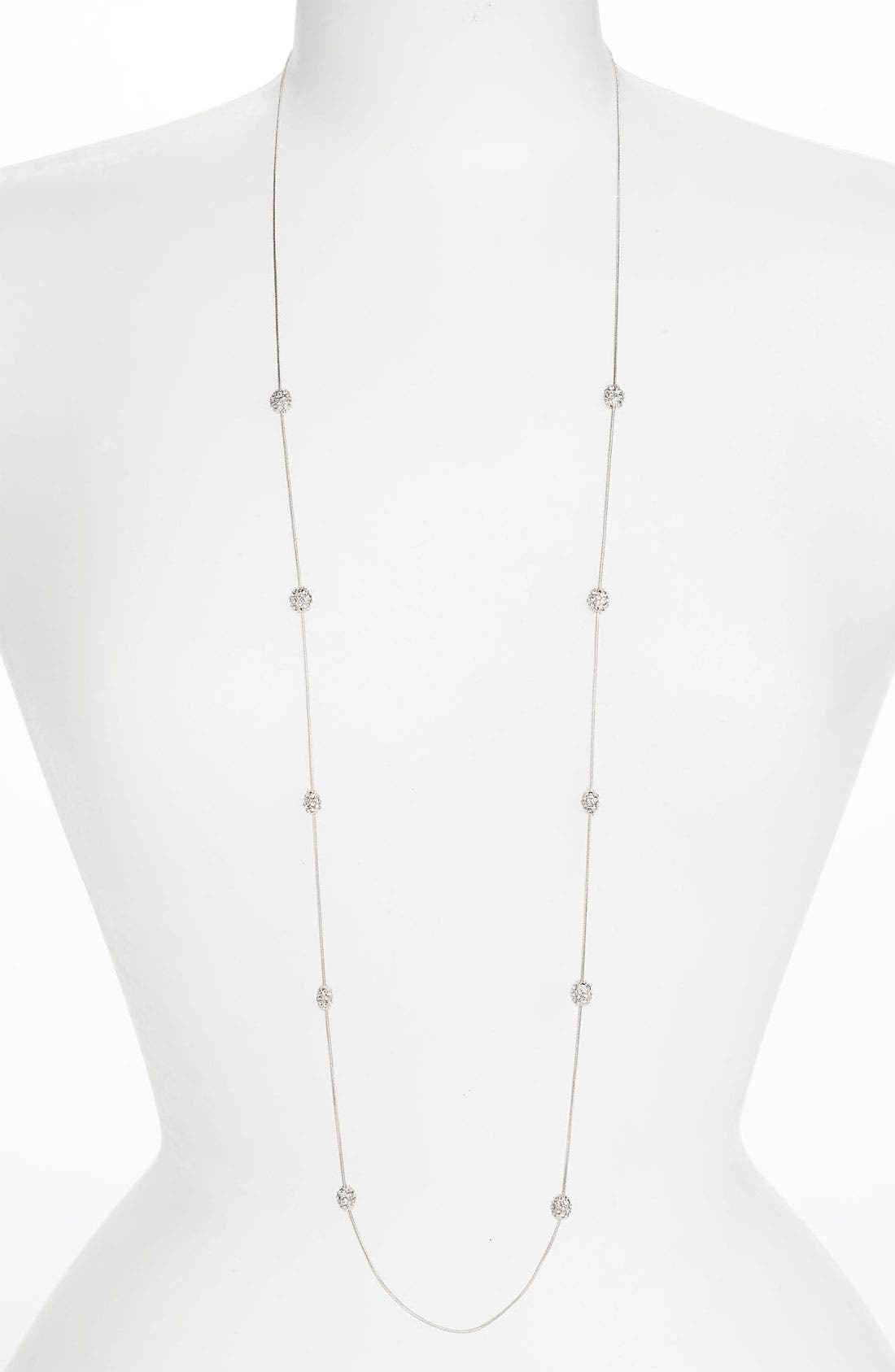 Alternate Image 1 Selected - Anne Klein 'Fireball' Long Illusion Necklace