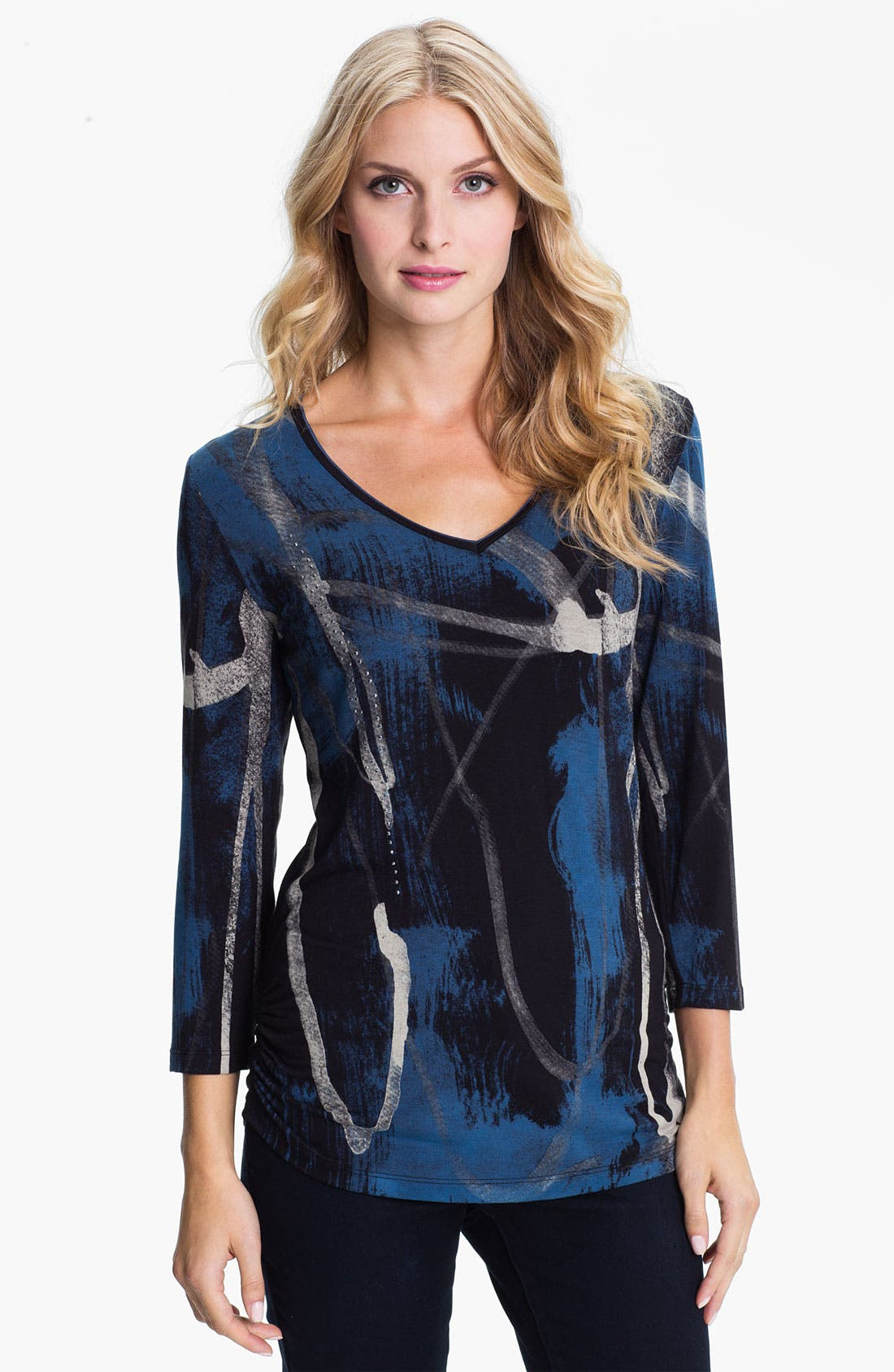 Main Image - Edista Print V-Neck Top