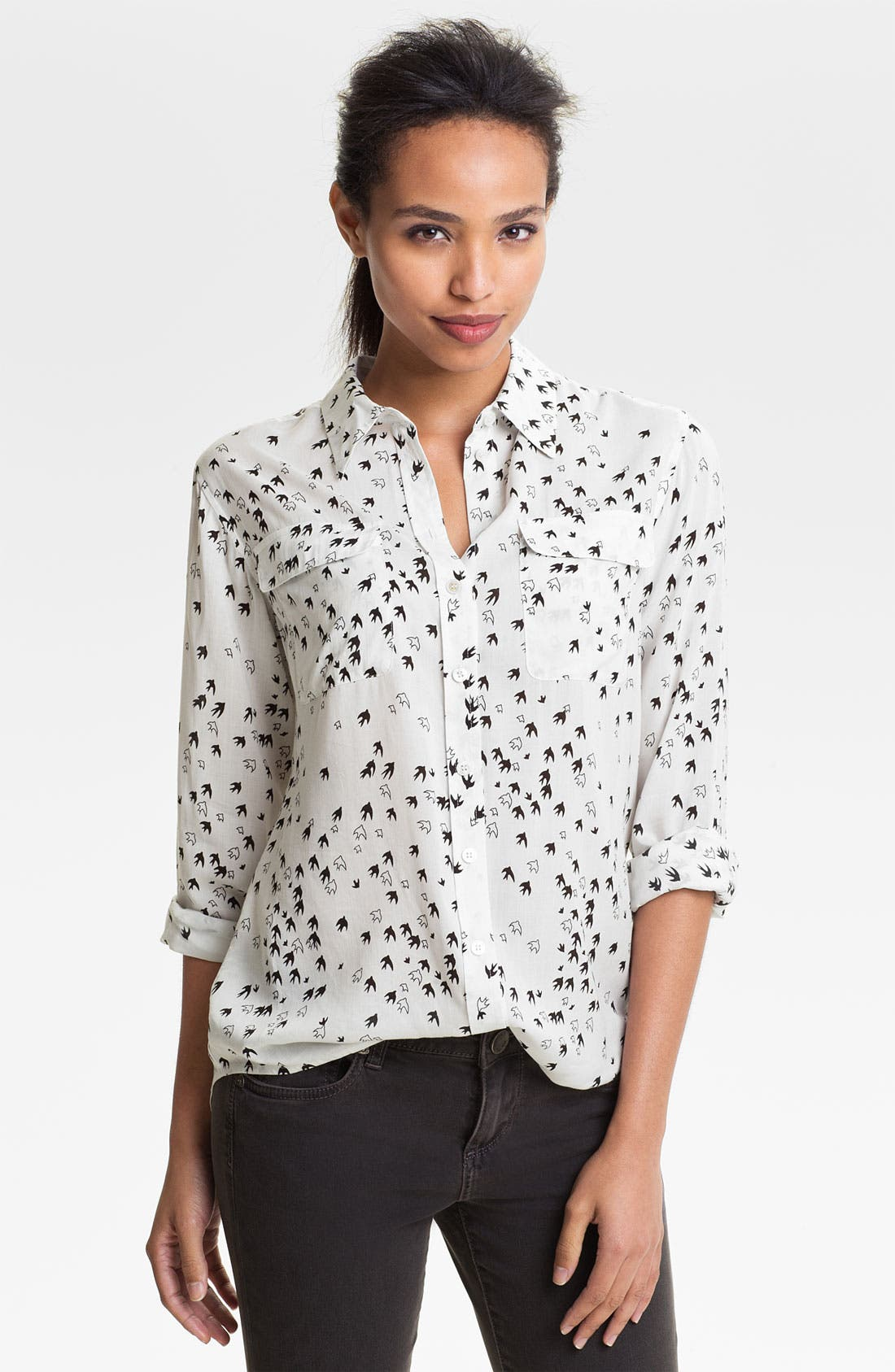 Alternate Image 1 Selected - Two by Vince Camuto Bird Print Blouse