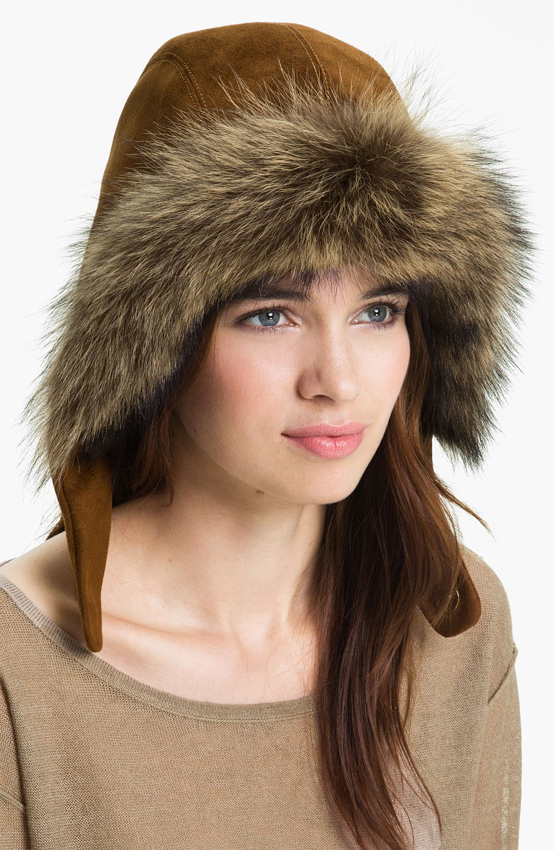 Alternate Image 1 Selected - Eric Javits 'Capuchon III' Genuine Racoon Fur Trim Hood