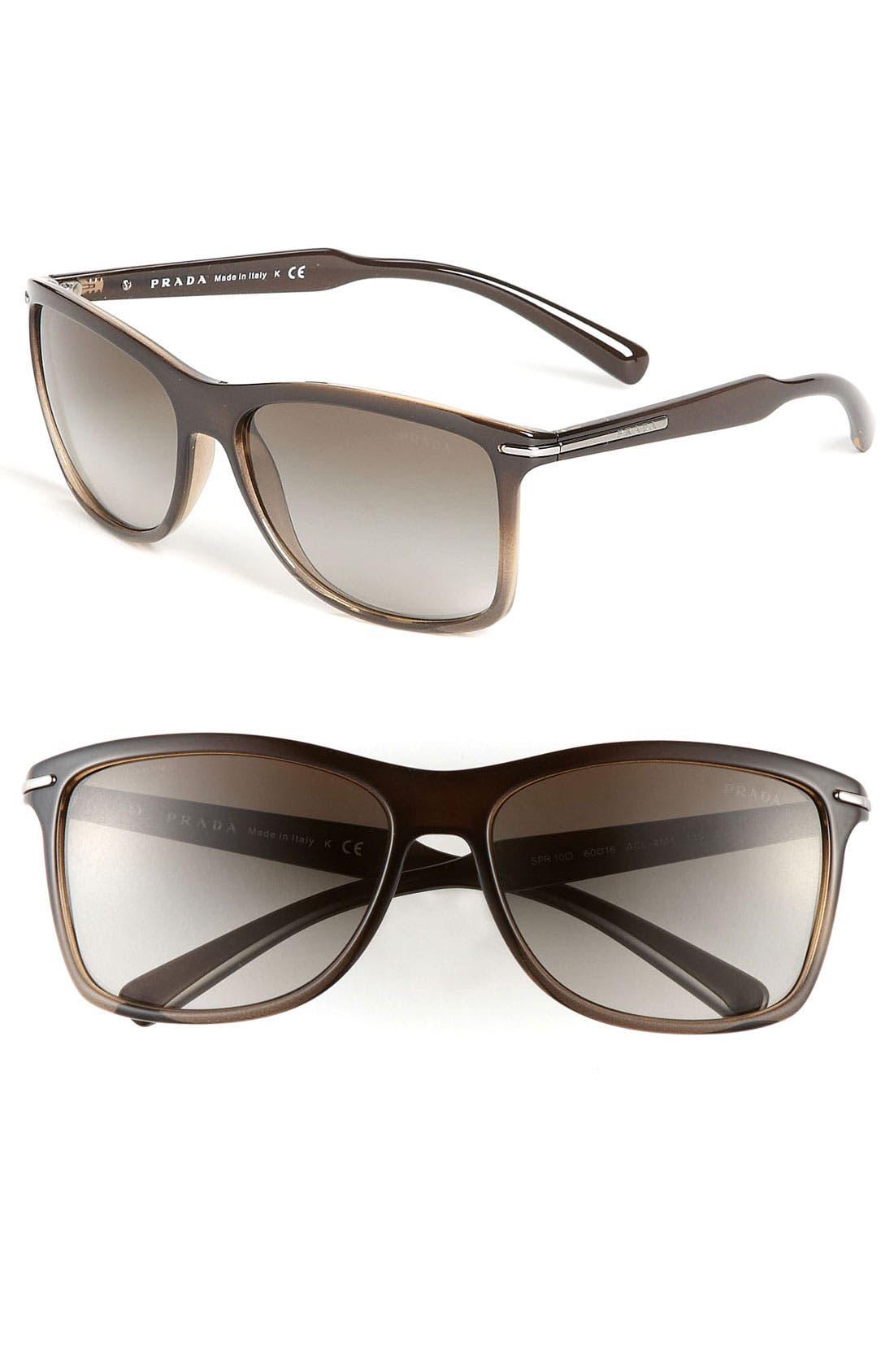 Main Image - Prada 'P-Arrow' Retro 60mm Sunglasses