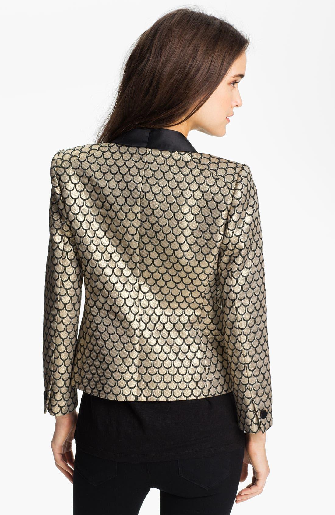 Alternate Image 2  - Juicy Couture Metallic Fishscale Jacquard Jacket