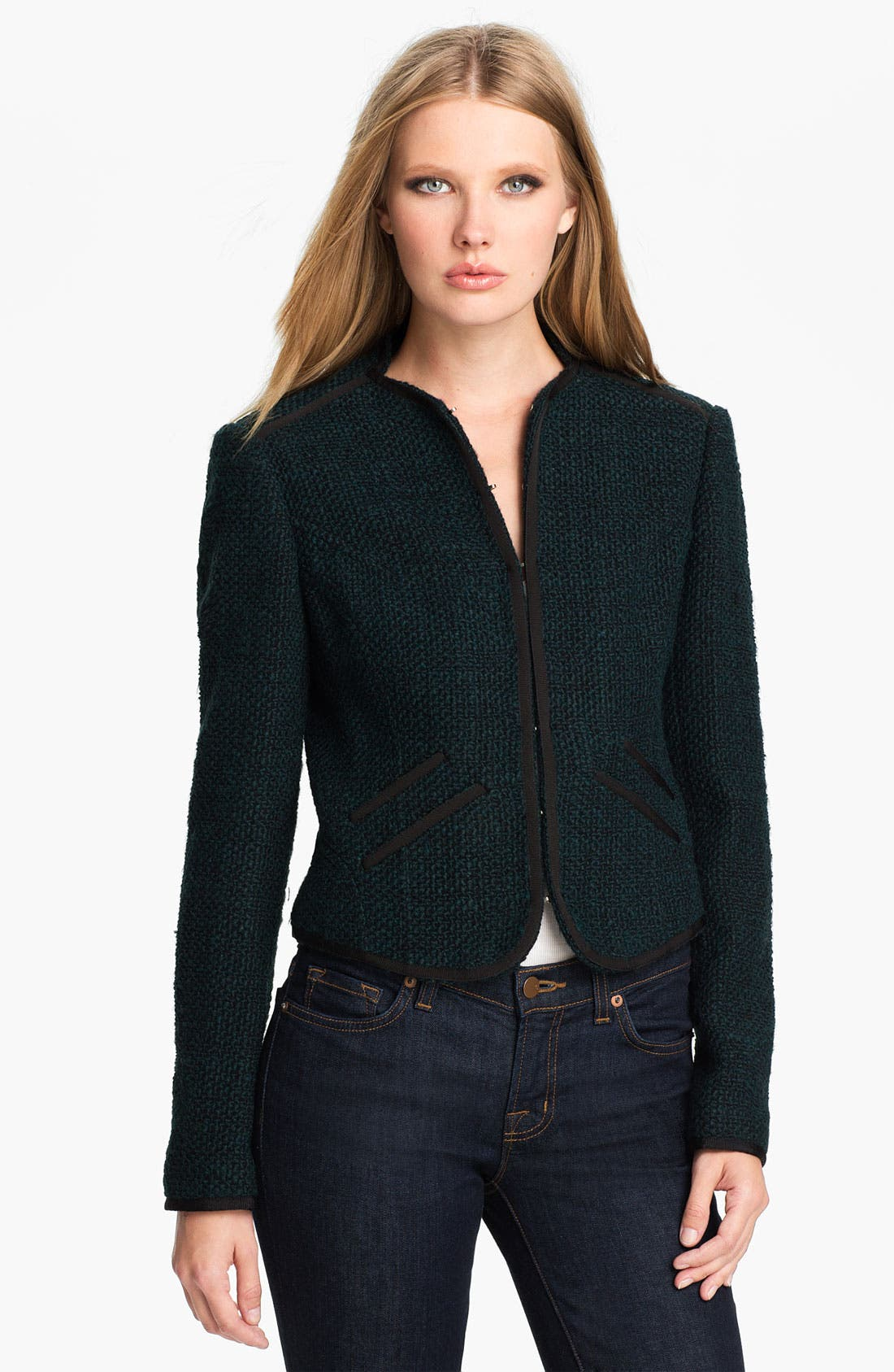 Main Image - Ted Baker London 'Pebelle' Crop Jacket