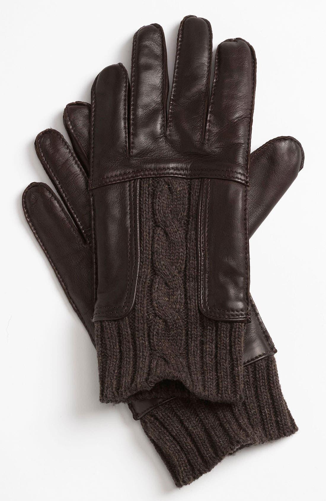 Alternate Image 1 Selected - BOSS Black 'Hosky' Leather Gloves
