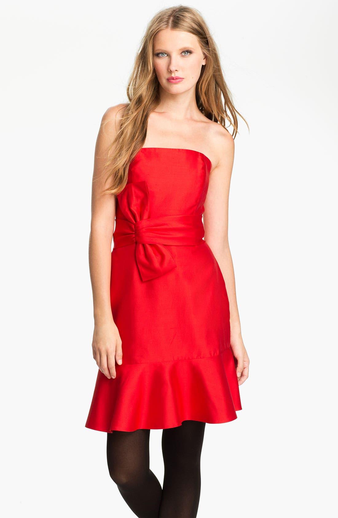 Alternate Image 1 Selected - kate spade new york 'justina' silk blend sheath dress