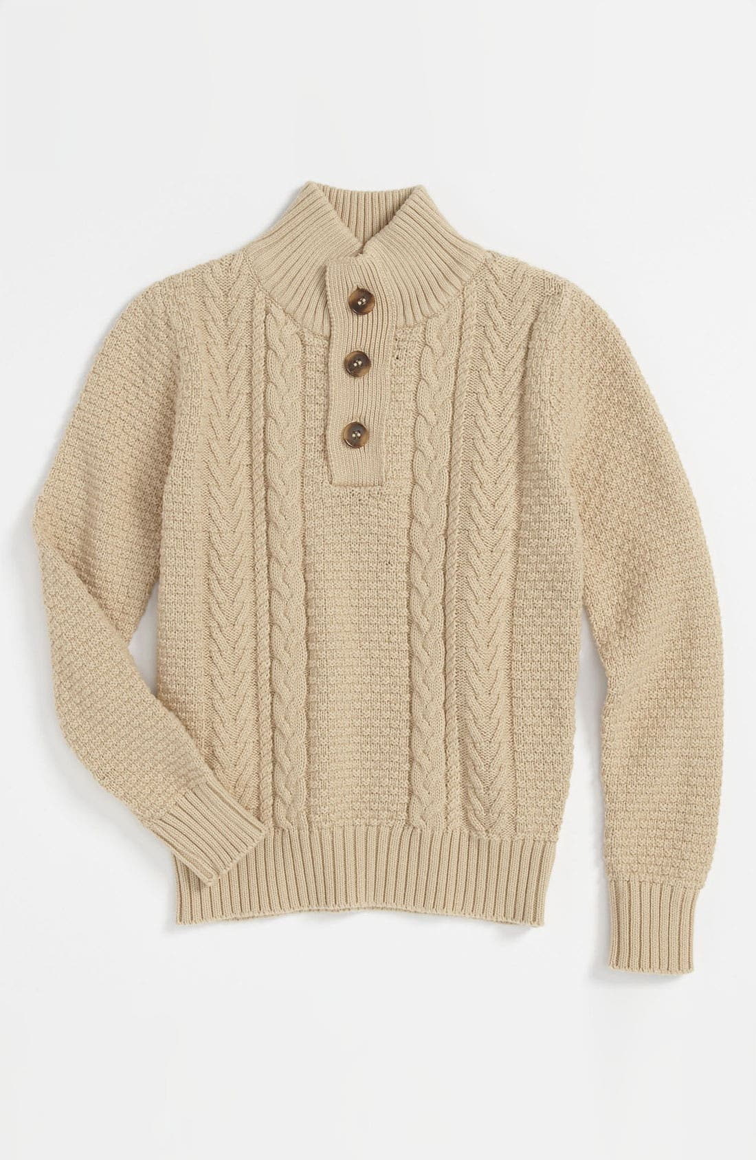 Alternate Image 1 Selected - Peek 'Nathan' Cable Knit Sweater (Toddler, Little Boys & Big Boys)