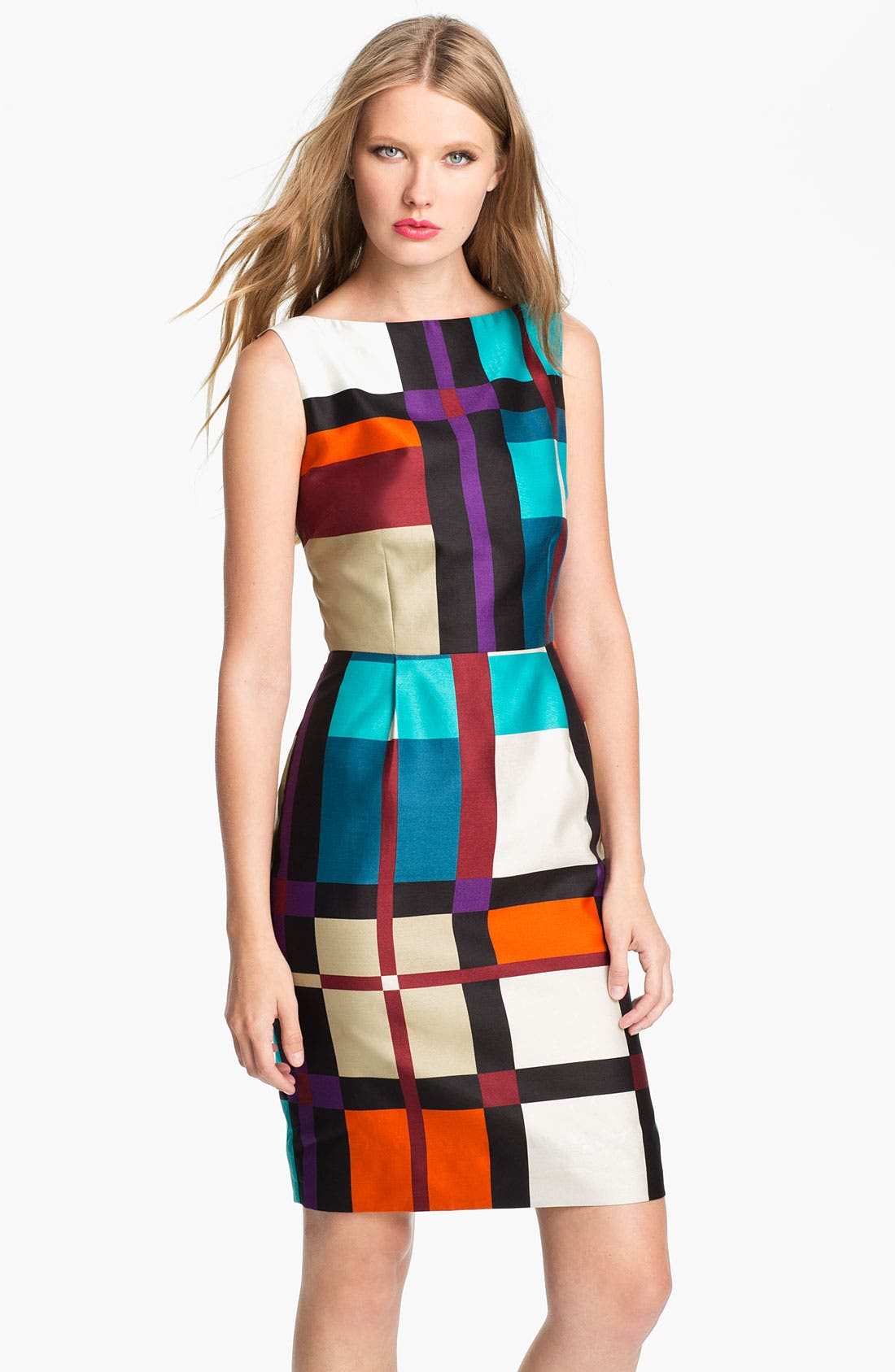 Main Image - kate spade new york 'purdy' cotton & silk sheath dress (Nordstrom Exclusive)