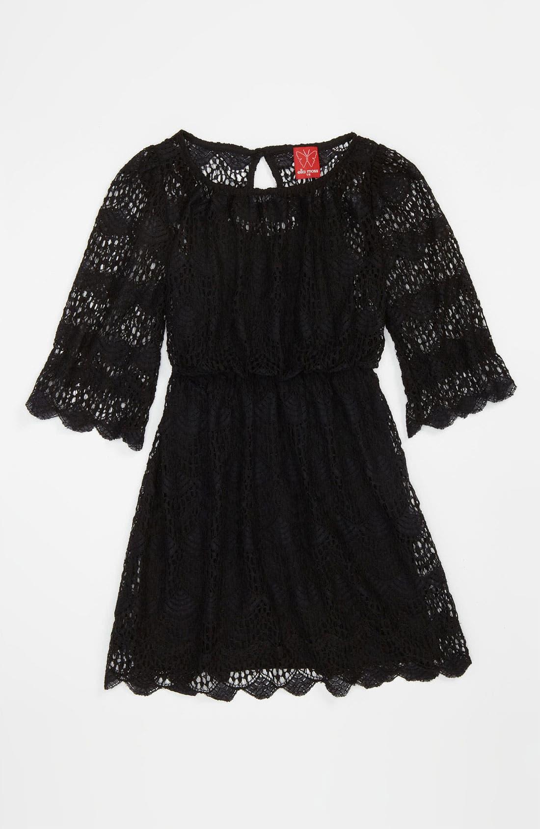 Main Image - Ella Moss 'Ivy' Lace Dress (Big Girls)