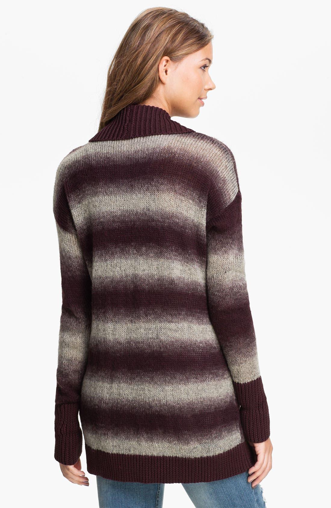 Alternate Image 2  - Rubbish® Ombré Stripe Cardigan (Juniors)